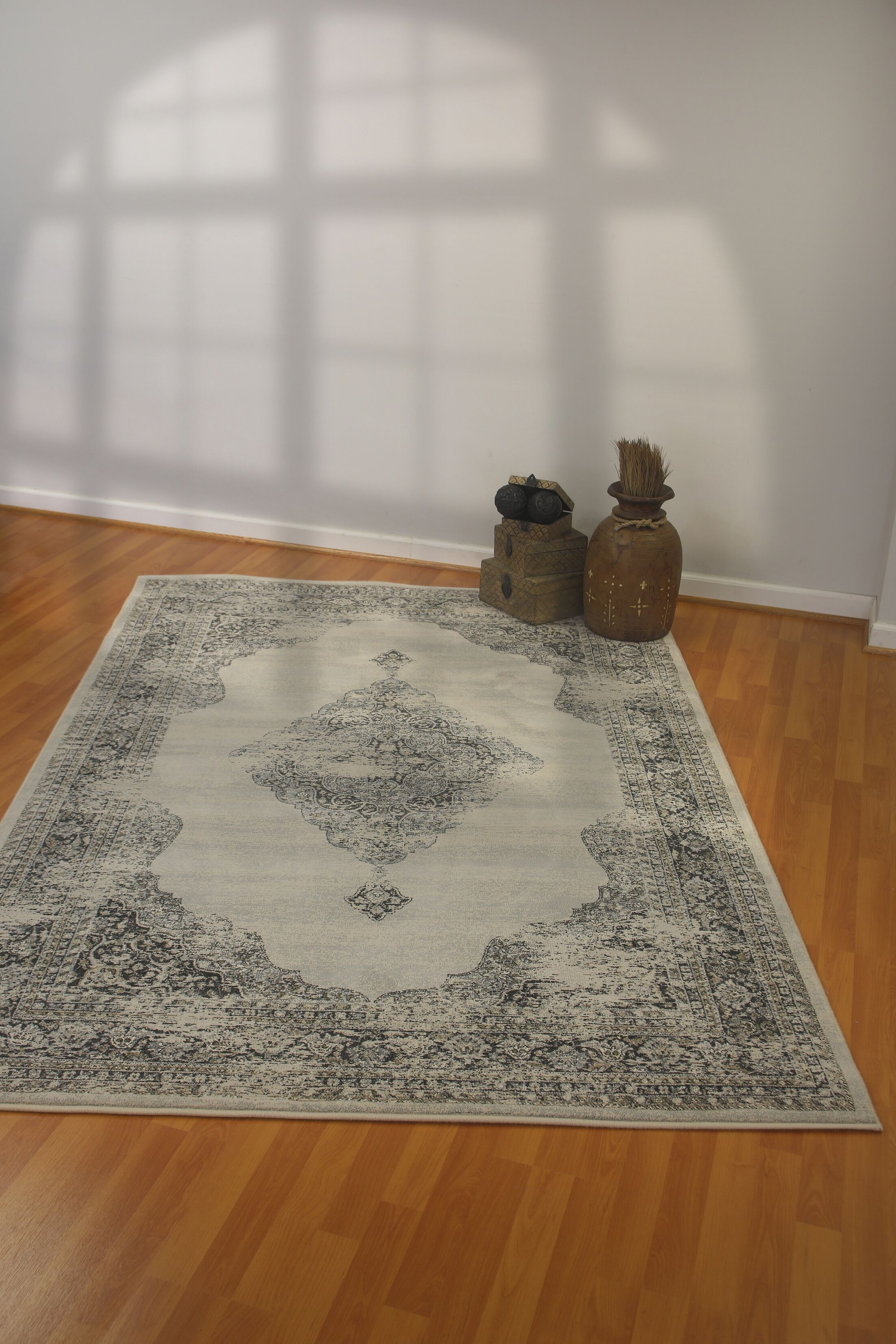 Attell Silver/Gray Area Rug Rug Size: Runner 2'2