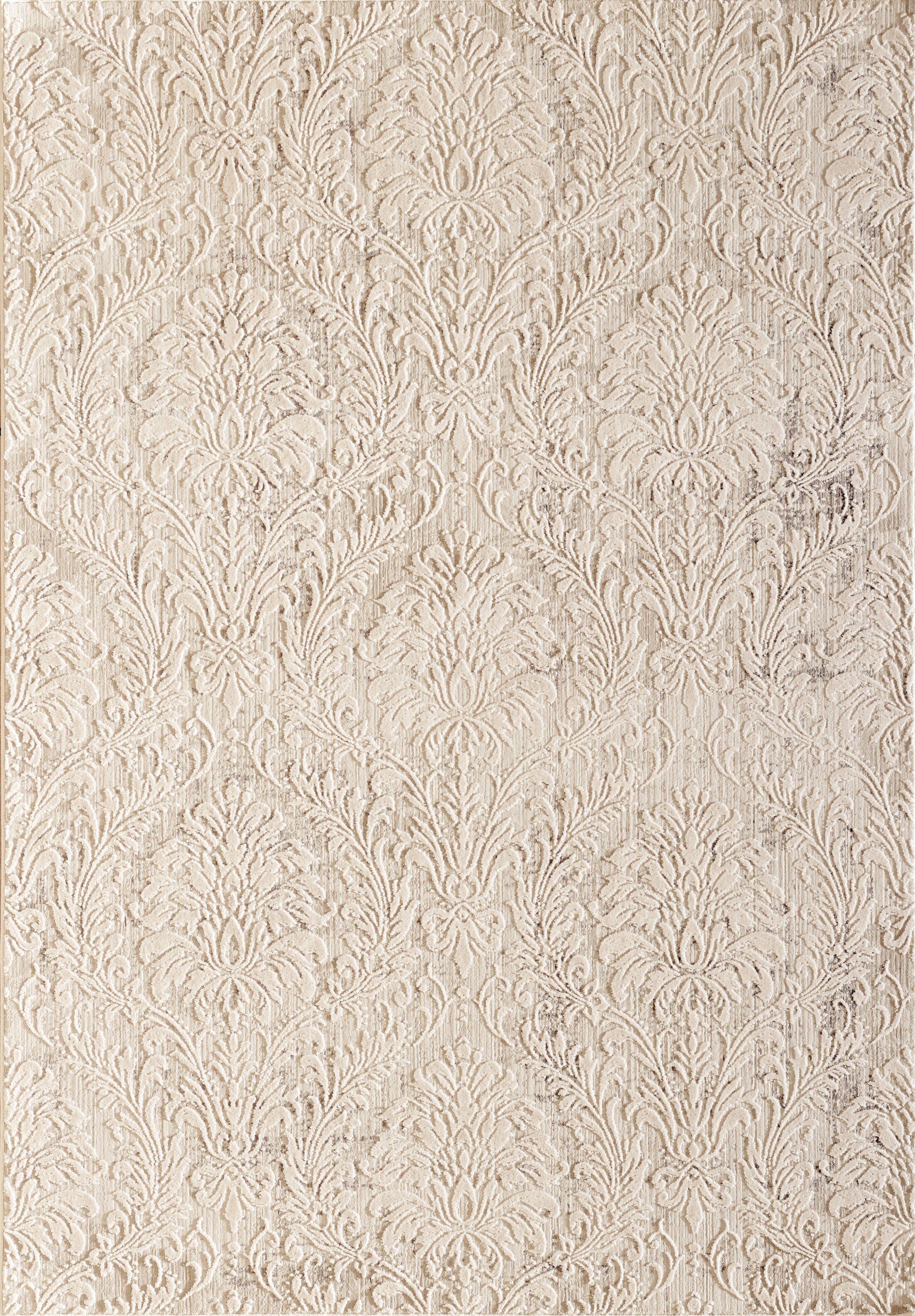 Caddie Ivory/Beige Area Rug Rug Size: Rectangle 5'3