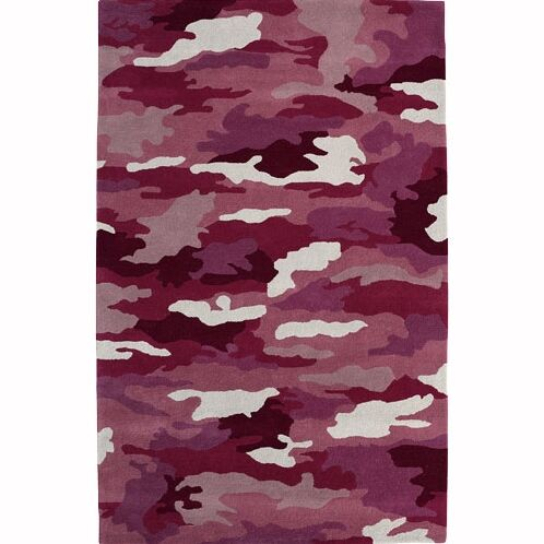 Fantasia Cool Girlzz 1709-200 Pink Army Wool Rug Rug Size: Rectangle 7'6