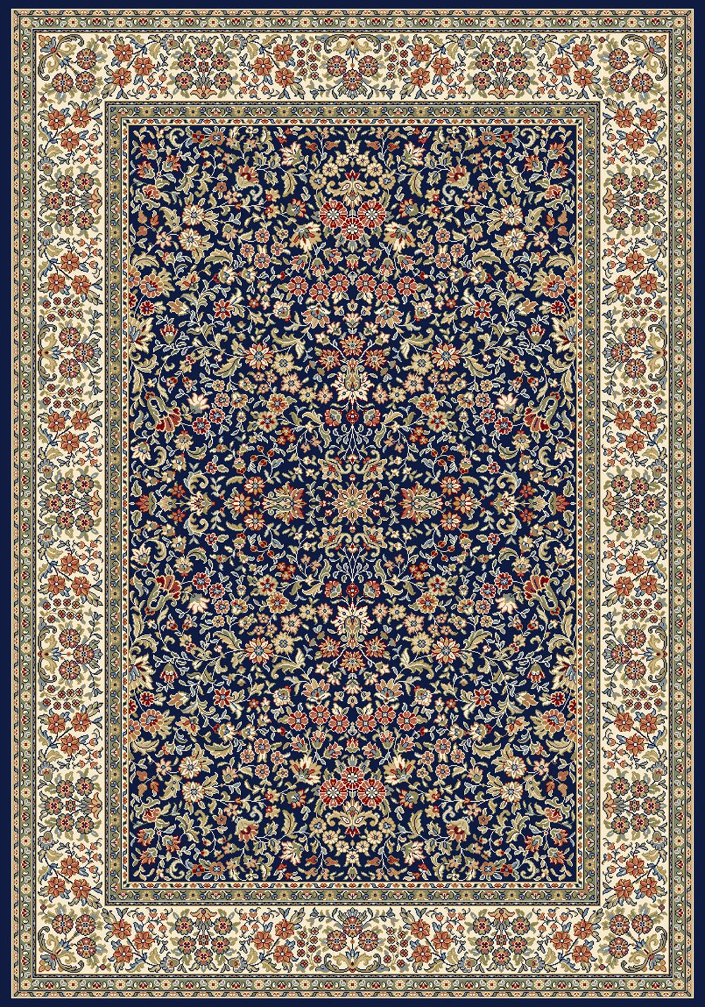 Attell Blue/Ivory Area Rug Rug Size: Rectangle 3'11