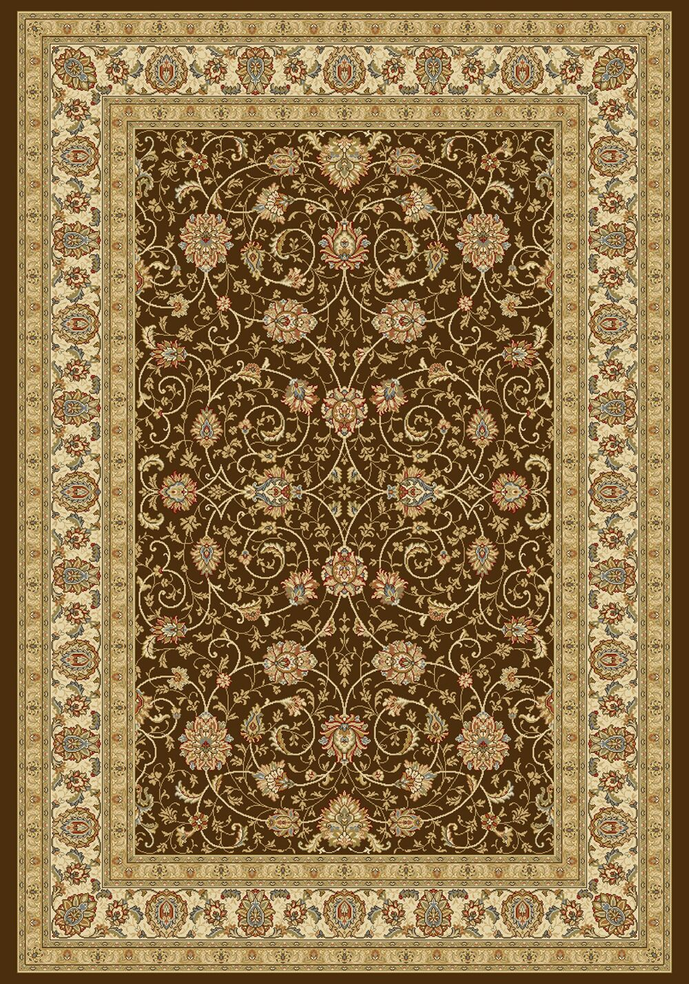 Attell Chocolate/Ivory Area Rug Rug Size: Runner 2'2