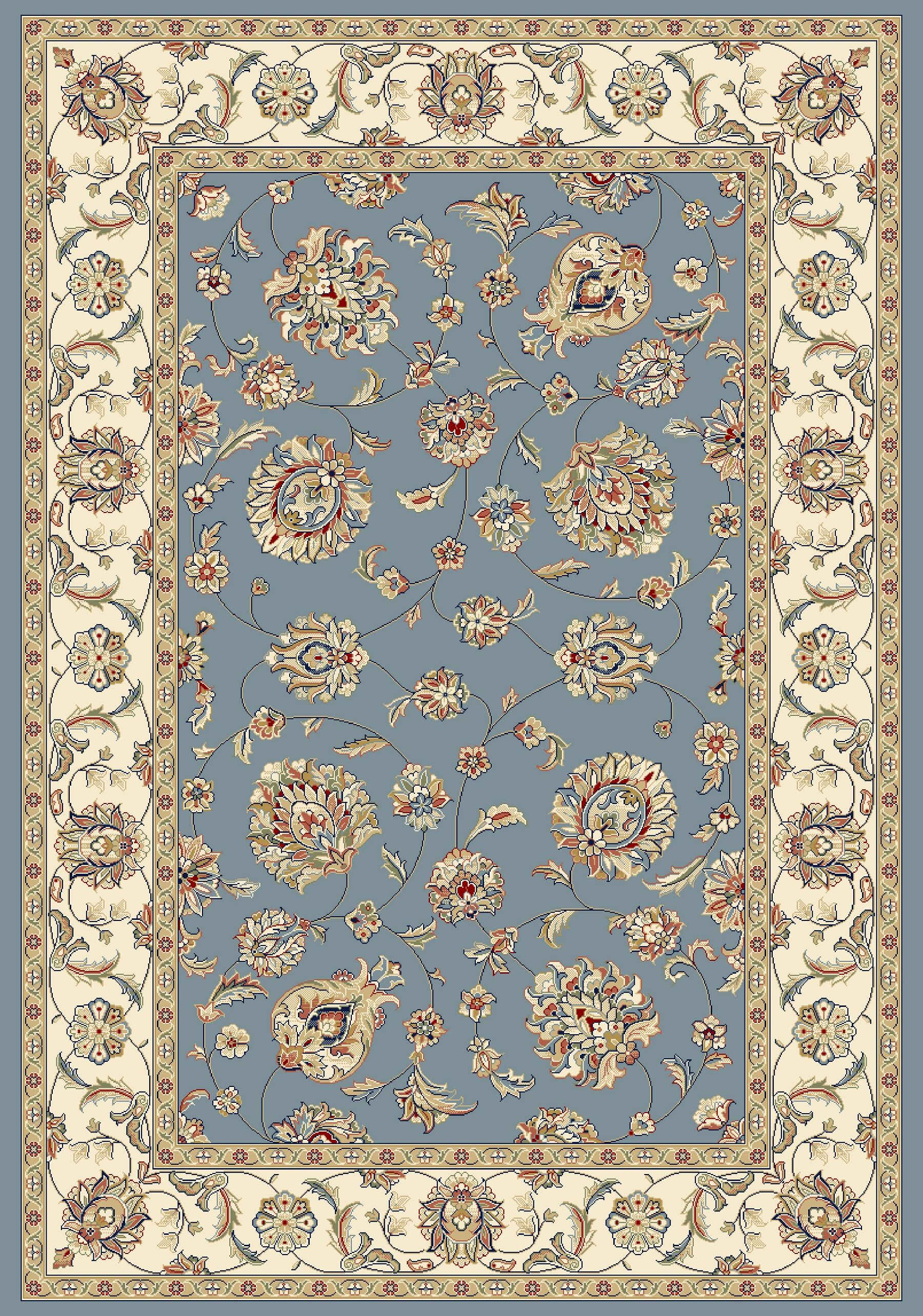 Attell Woven Blue/Ivory Area Rug Rug Size: Rectangle 5'3