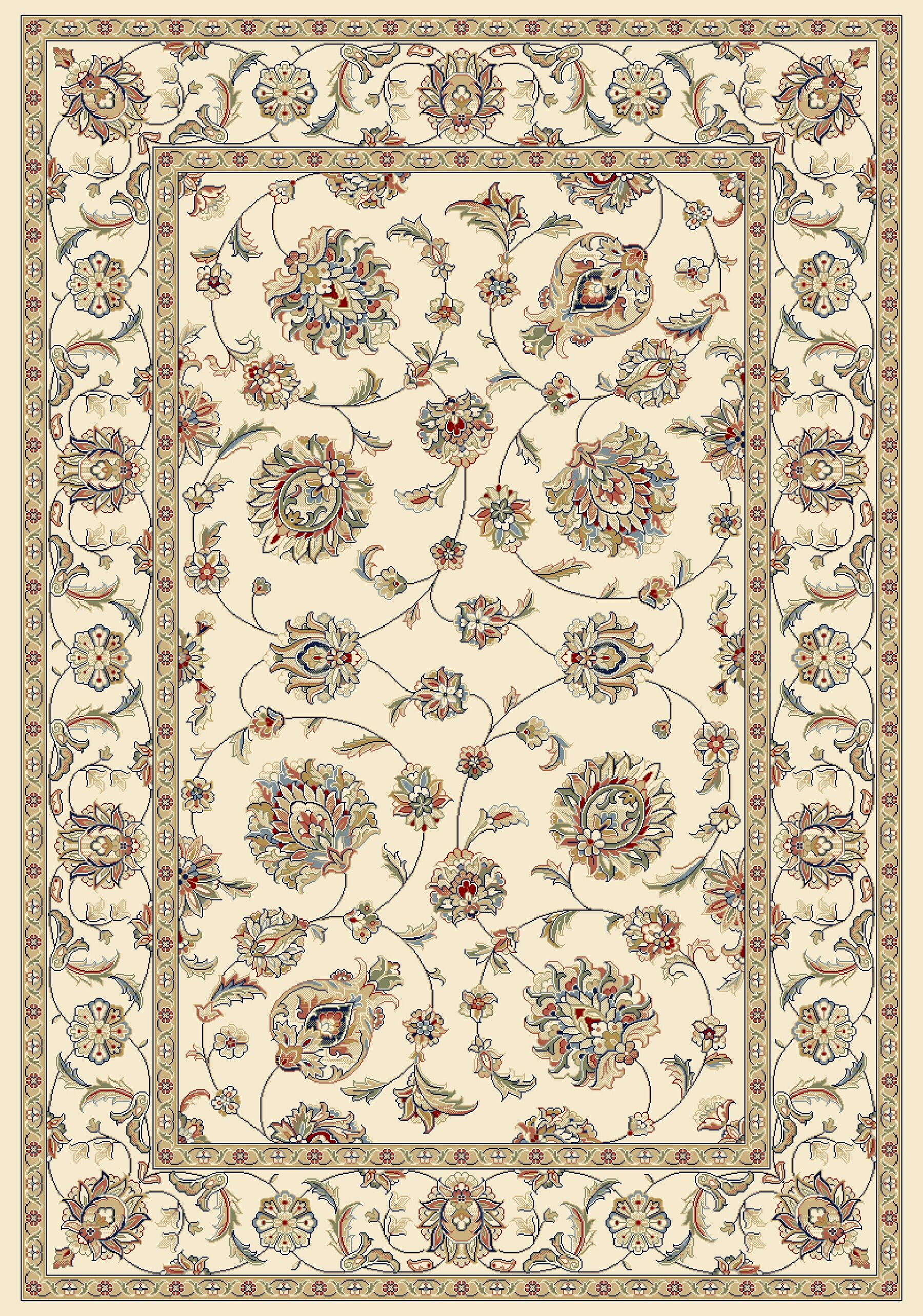 Attell Ivory/Ivory Area Rug Rug Size: Rectangle 3'11