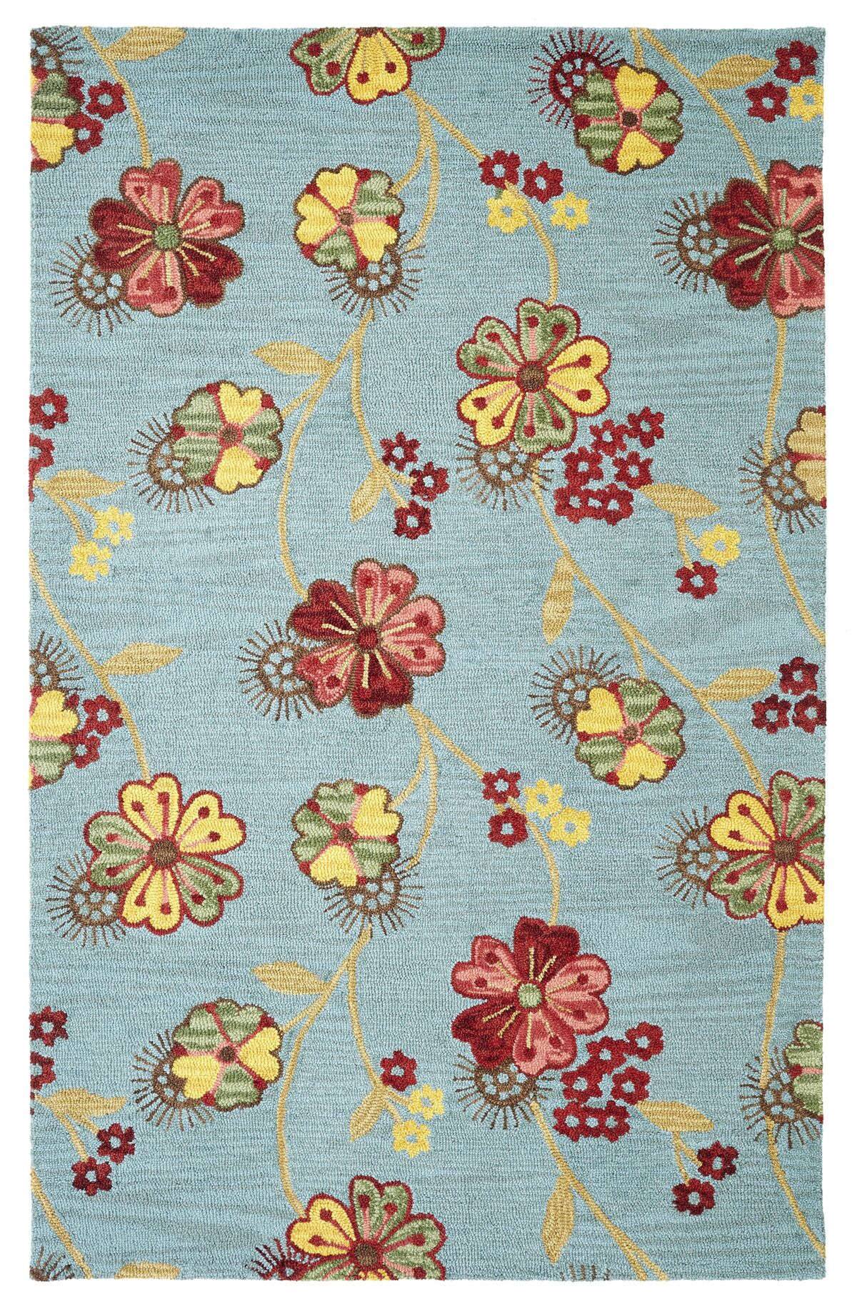 Dream Blue Area Rug Rug Size: Rectangle 8' x 11'
