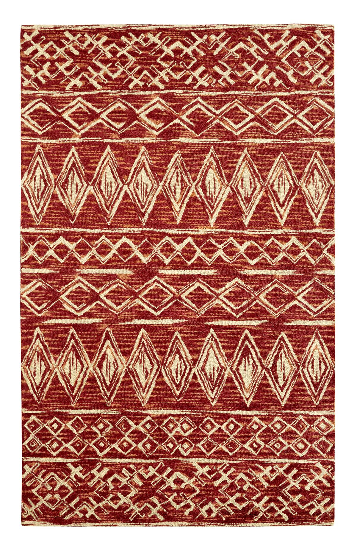 Dream Handwoven Flatweave Wool Rust Area Rug Rug Size: Rectangle 3'3