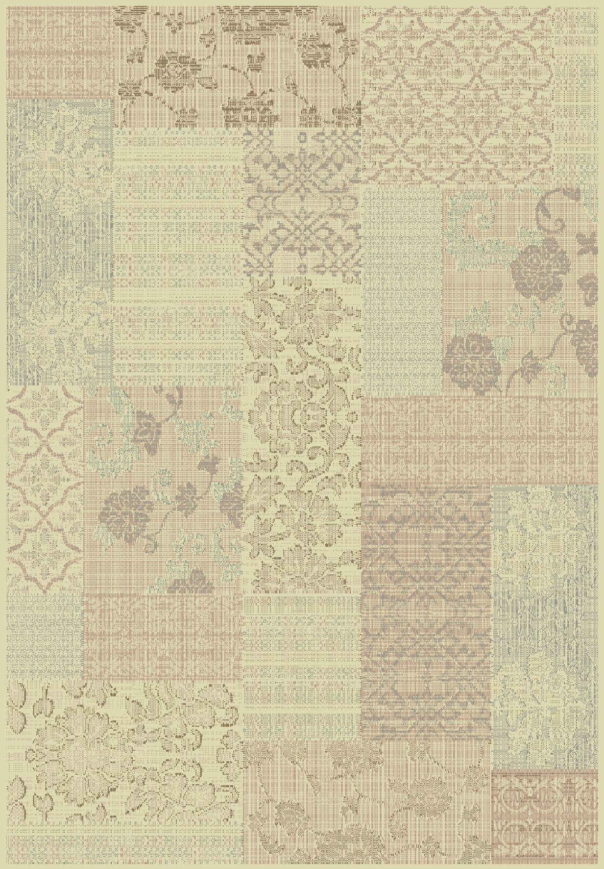 Pascual Cream/Light Brown Area Rug Rug Size: Rectangle 6'7