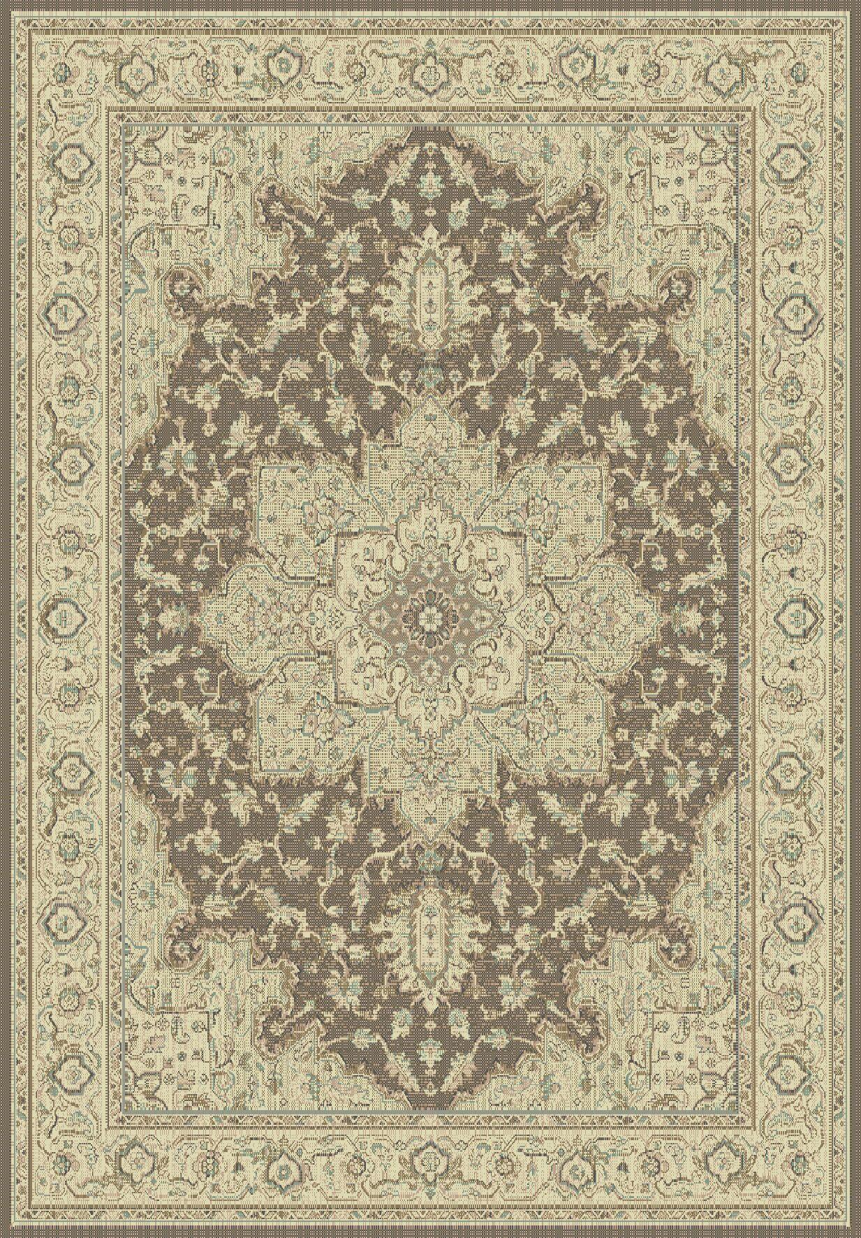 Manor Brown/Cream Area Rug Rug Size: Rectangle 3'10