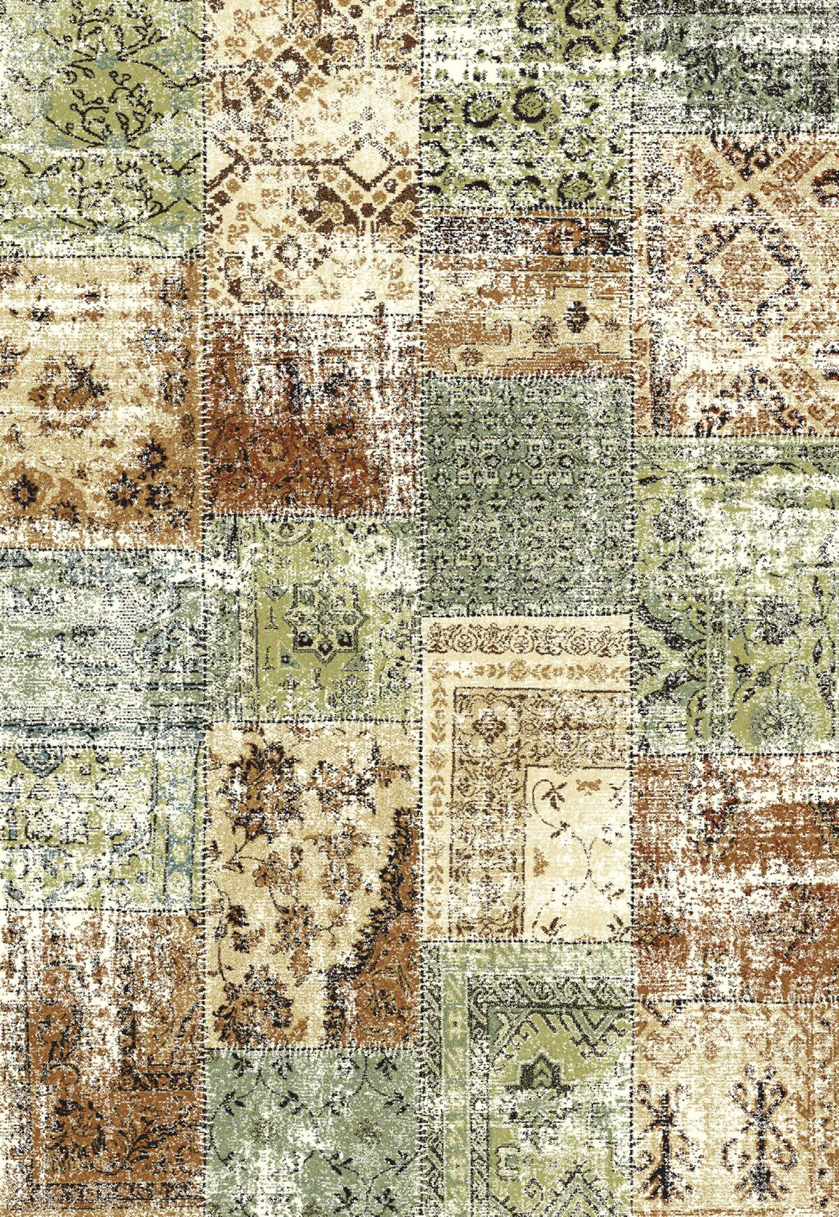 Annie Green/Brown Area Rug Rug Size: Rectangle 7'10