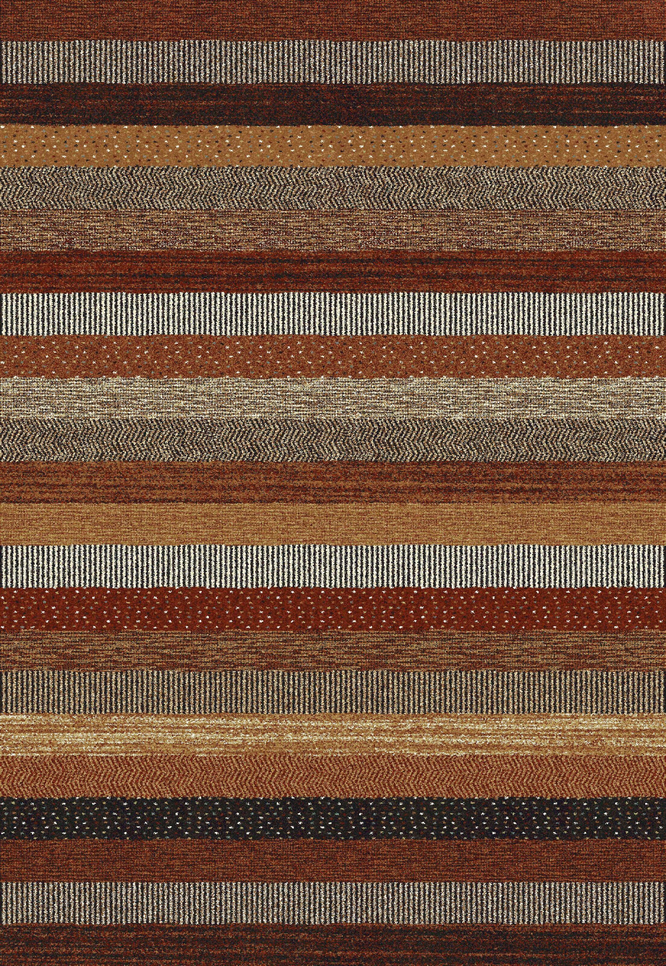 Martin Brown/Cream Area Rug Rug Size: Rectangle 5'3