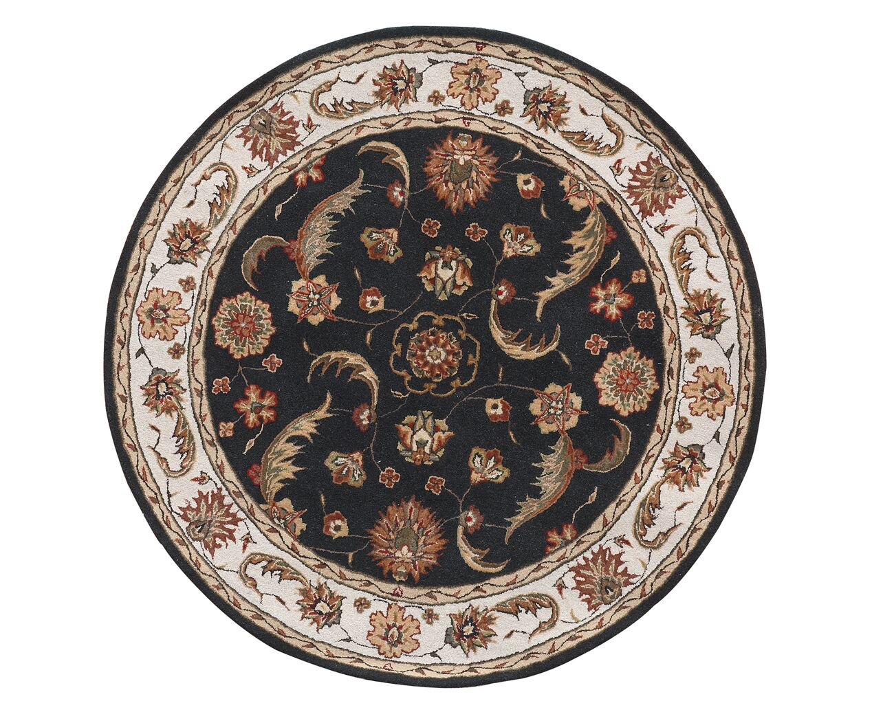 Java Charcoal/Beige Rug Rug Size: Round 7'10