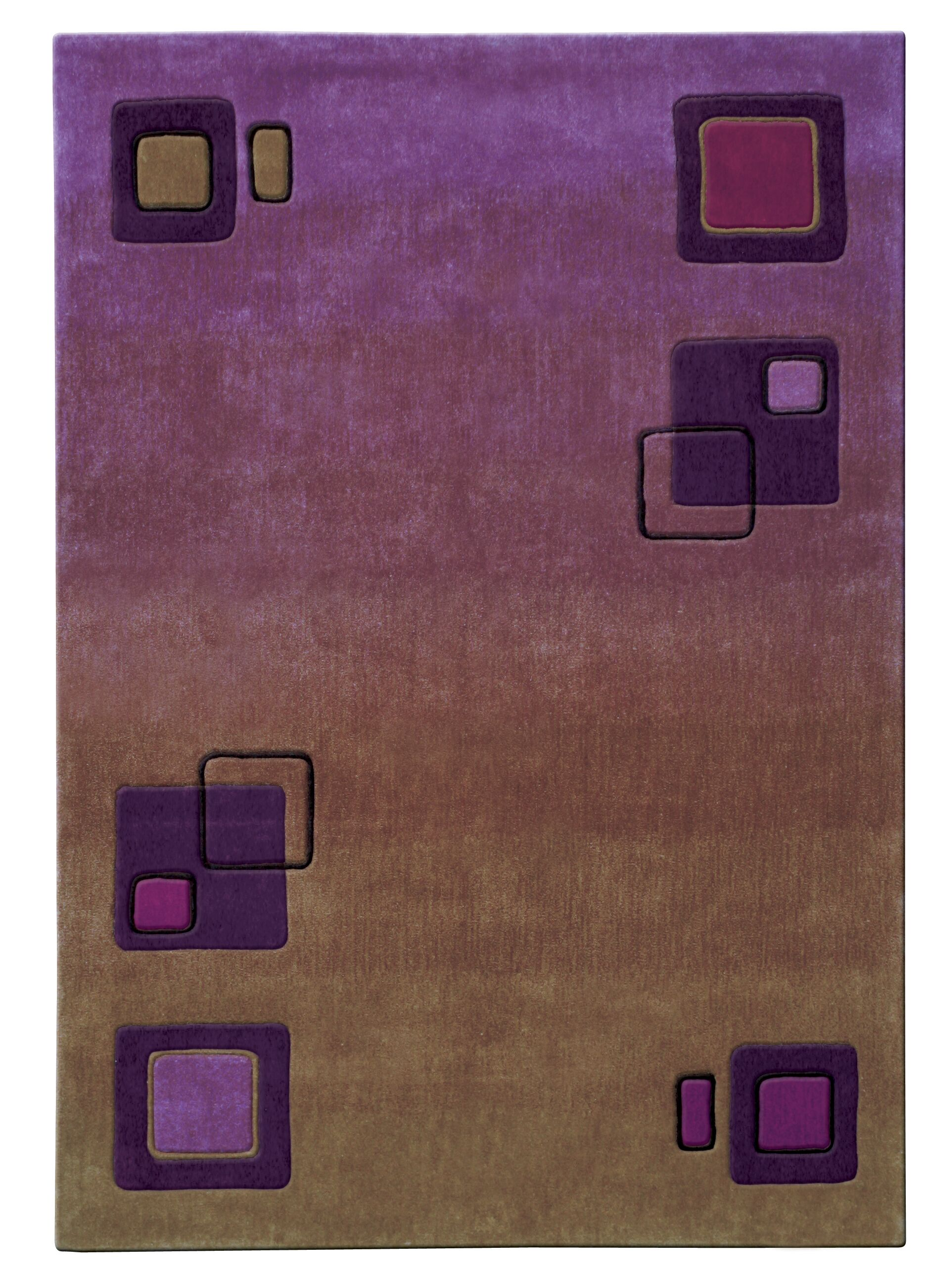Mystique Squares Area Rug Rug Size: Rectangle 7'10