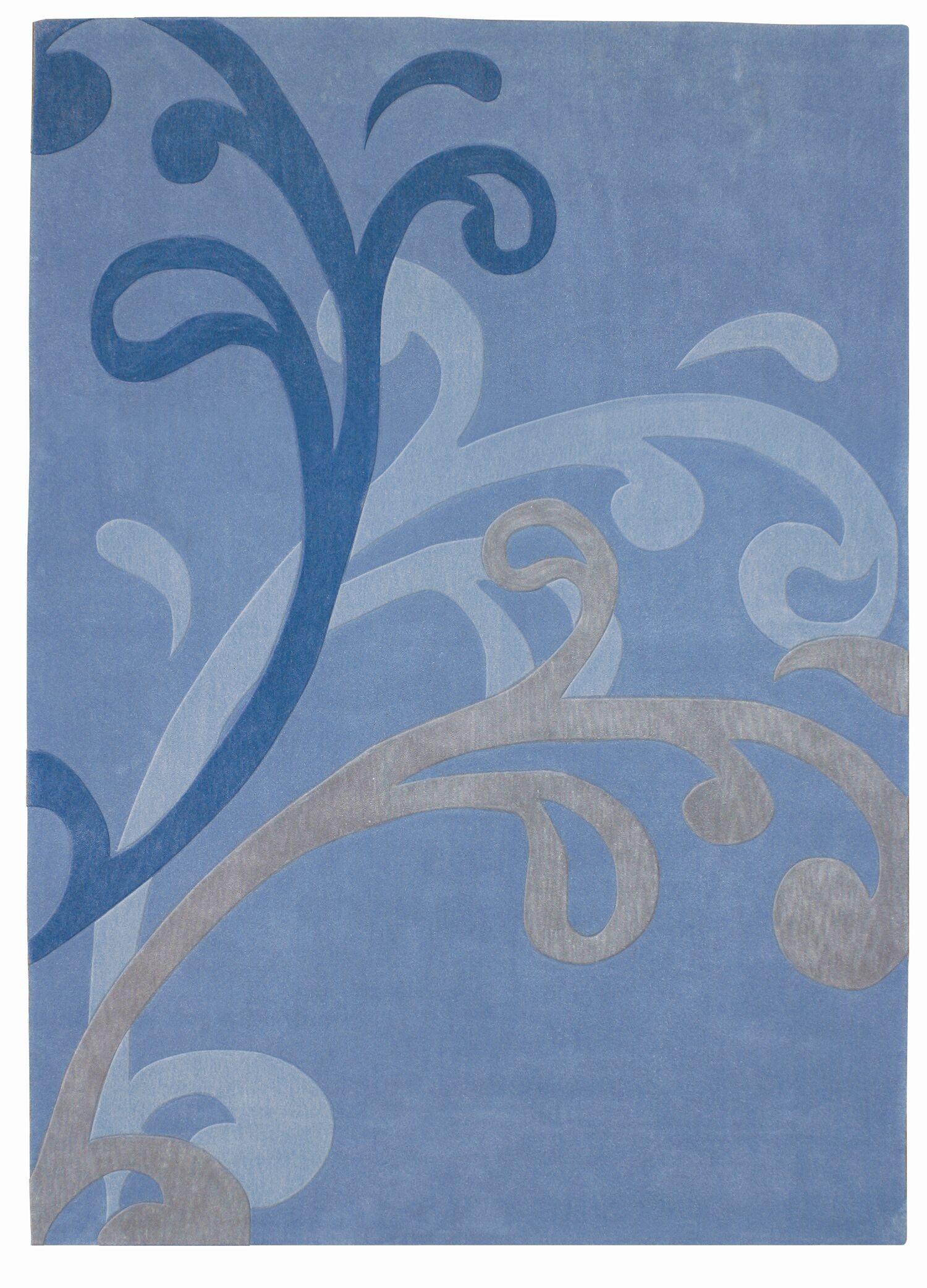 Mystique Blue Splash Area Rug Rug Size: Rectangle 5'3