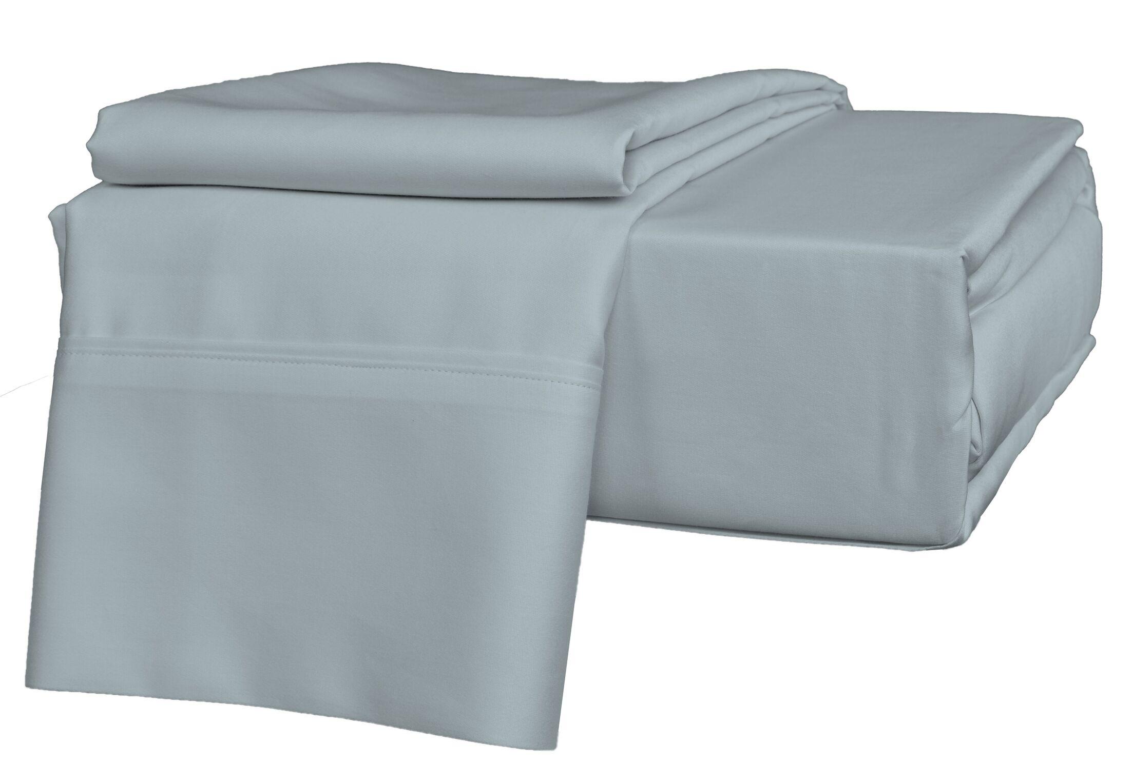 Egyptian Quality Cotton Sateen Premium 600 Plus TC Pillow Case Size: Standard, Color: Light Blue