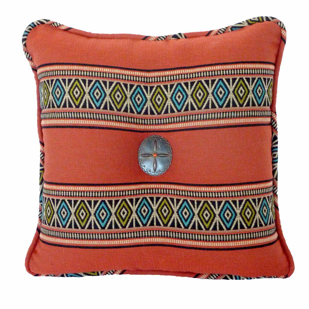 Porto Novo Throw Pillow Color: Terra Cotta