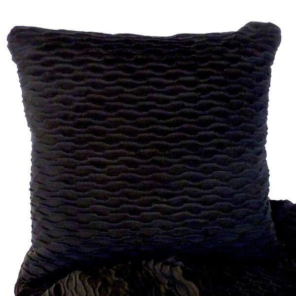 Ripple Throw Pillow Color: Onyx / Black