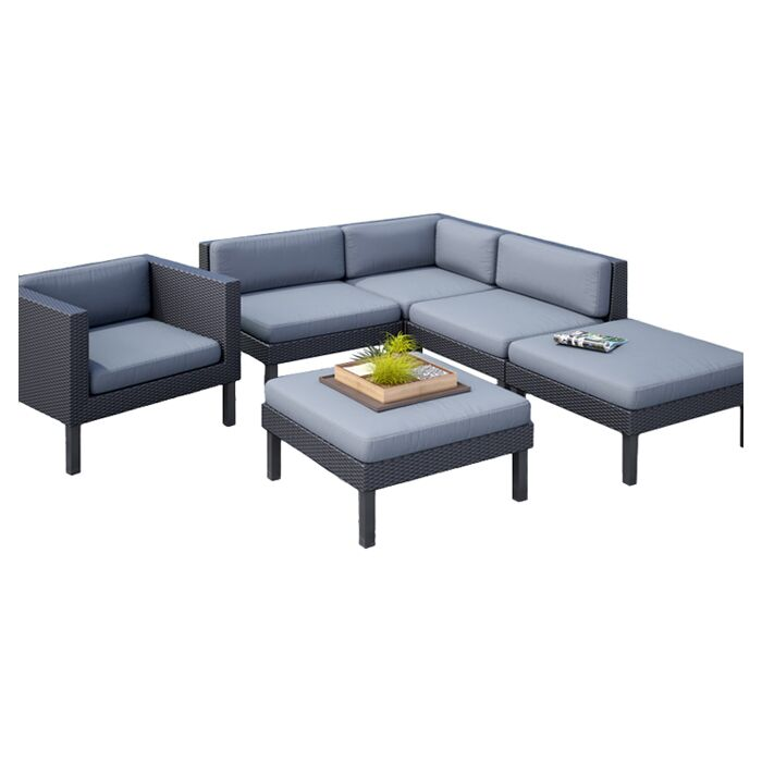Oakland 6 Piece Sectional Set with Cushions