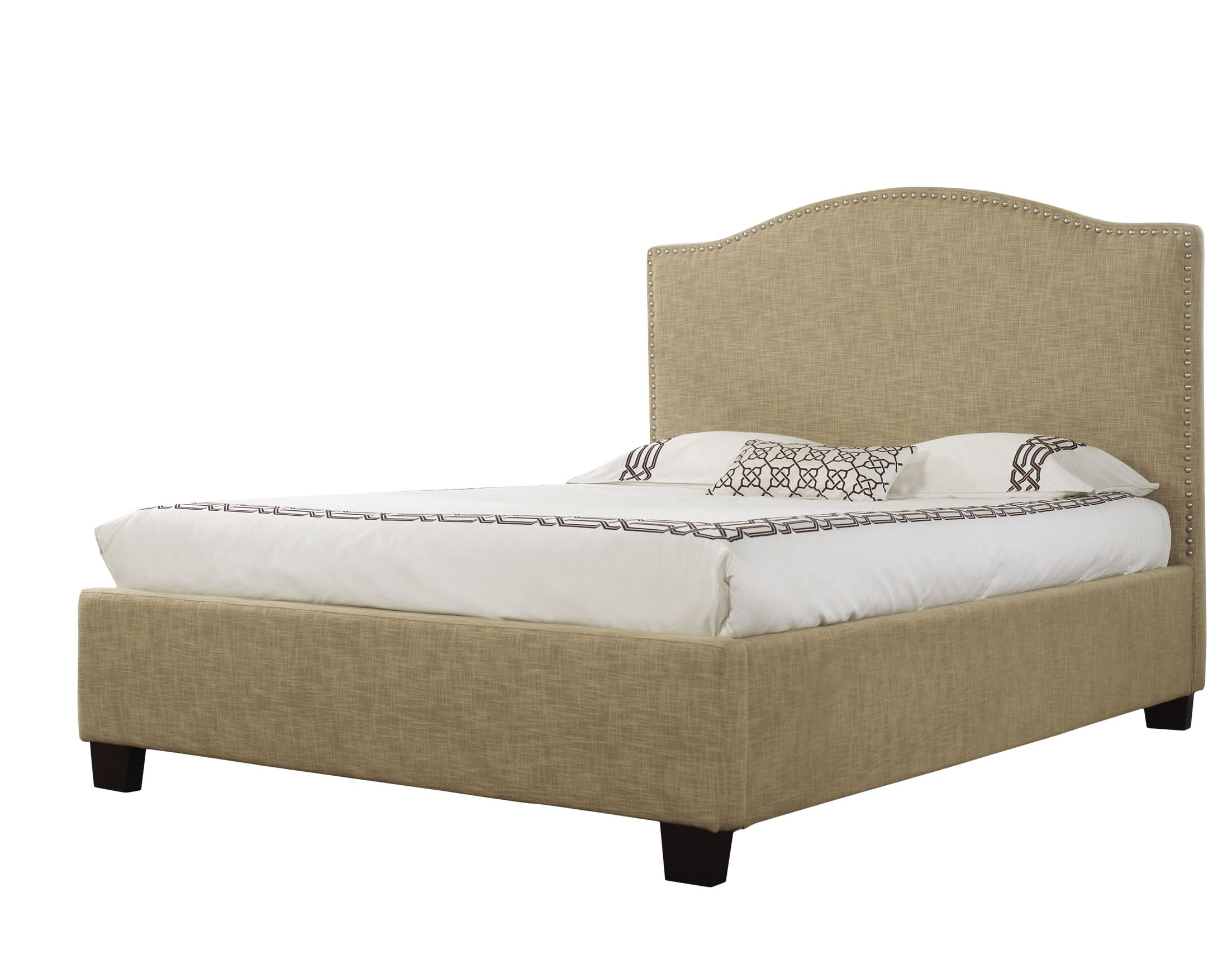 Drewes Upholstered Panel Bed Size: Queen, Color: Almond