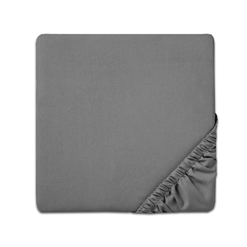 Fitted Sheet Color: Gray, Size: Full
