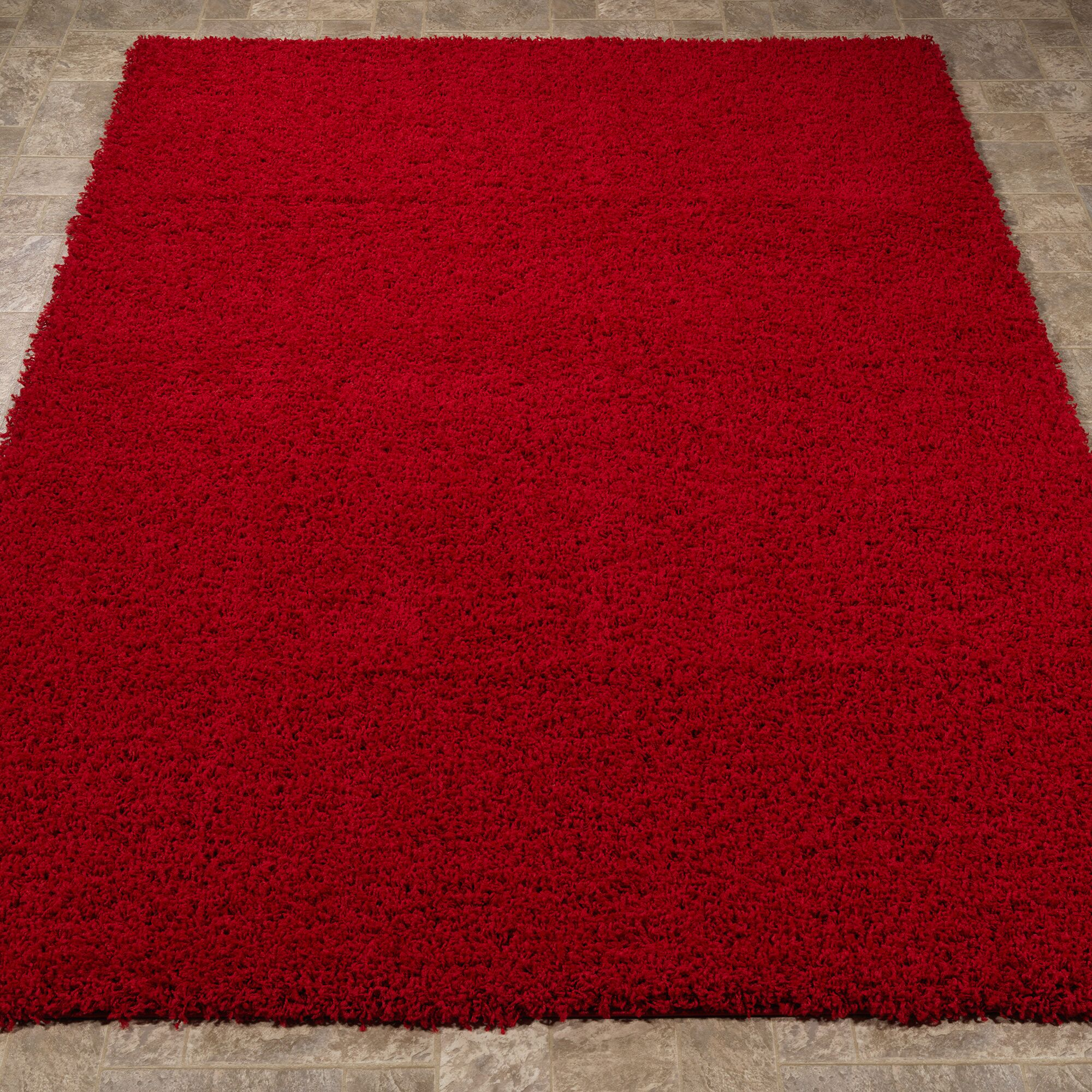 Cozy Red Area Rug Rug Size: 6'7