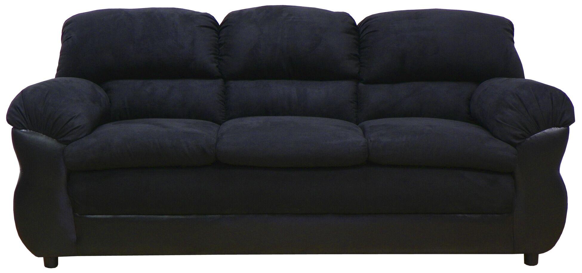 Abigail Sofa Upholstery: Bulldozer Black / San Marino Black