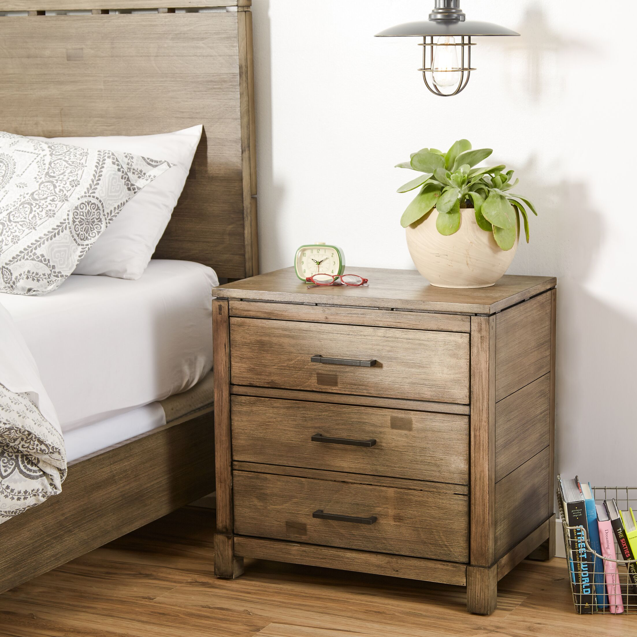Seleukos 2 Drawer Nightstand
