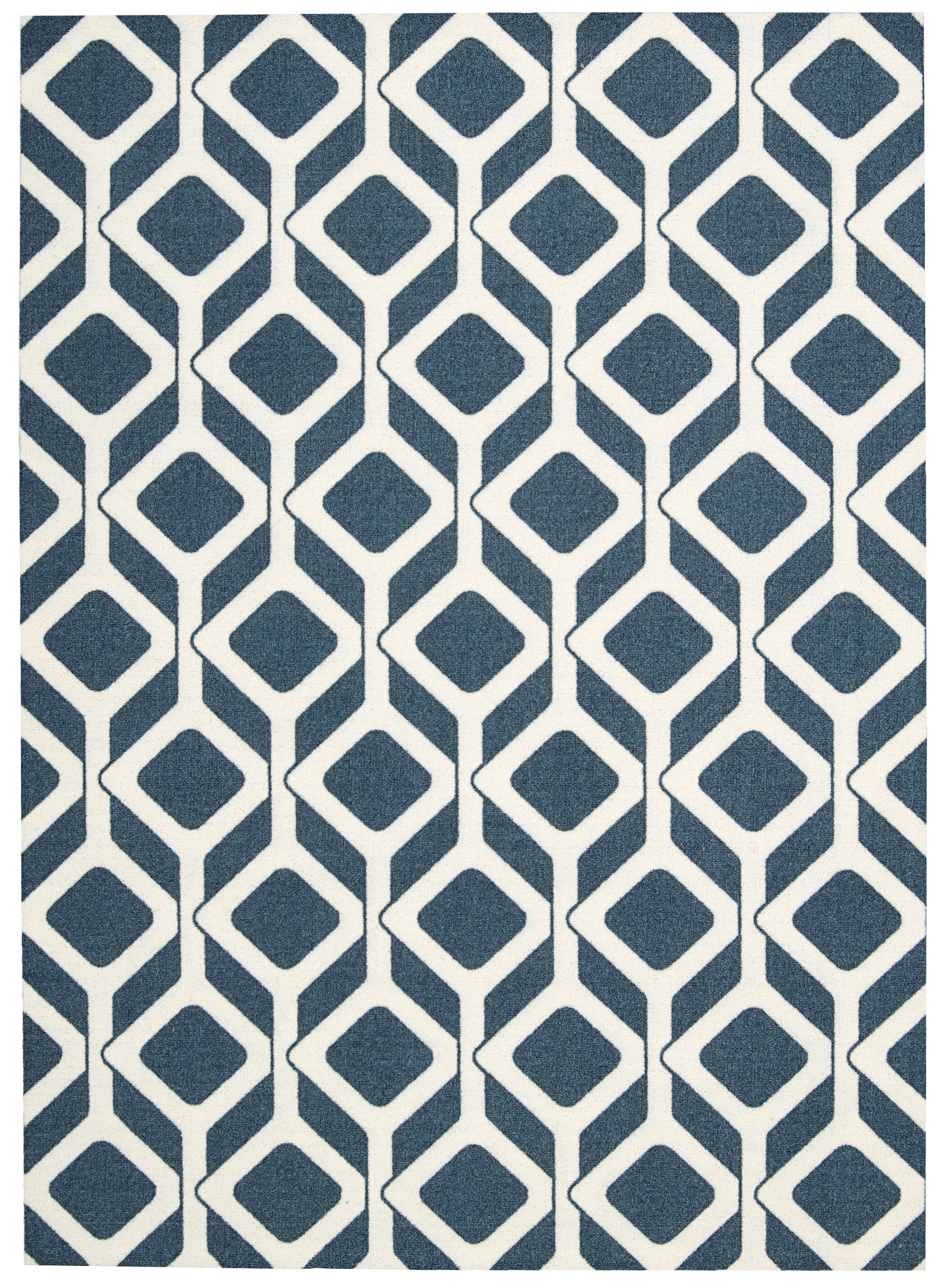 Kalypso Navy Area Rug Rug Size: Rectangle 5' x 7'