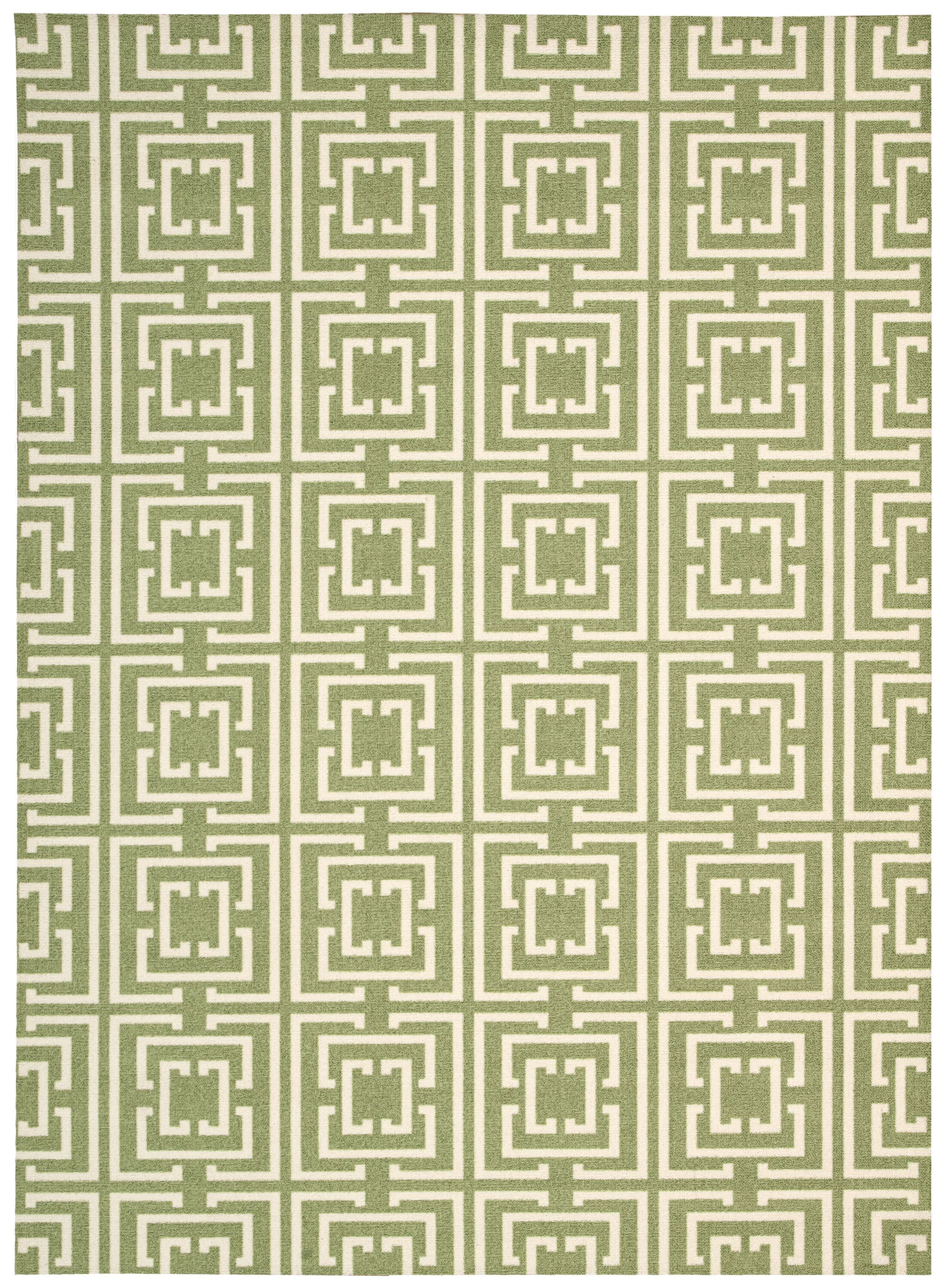 Anemone Green Area Rug Rug Size: Rectangle 5' x 7'