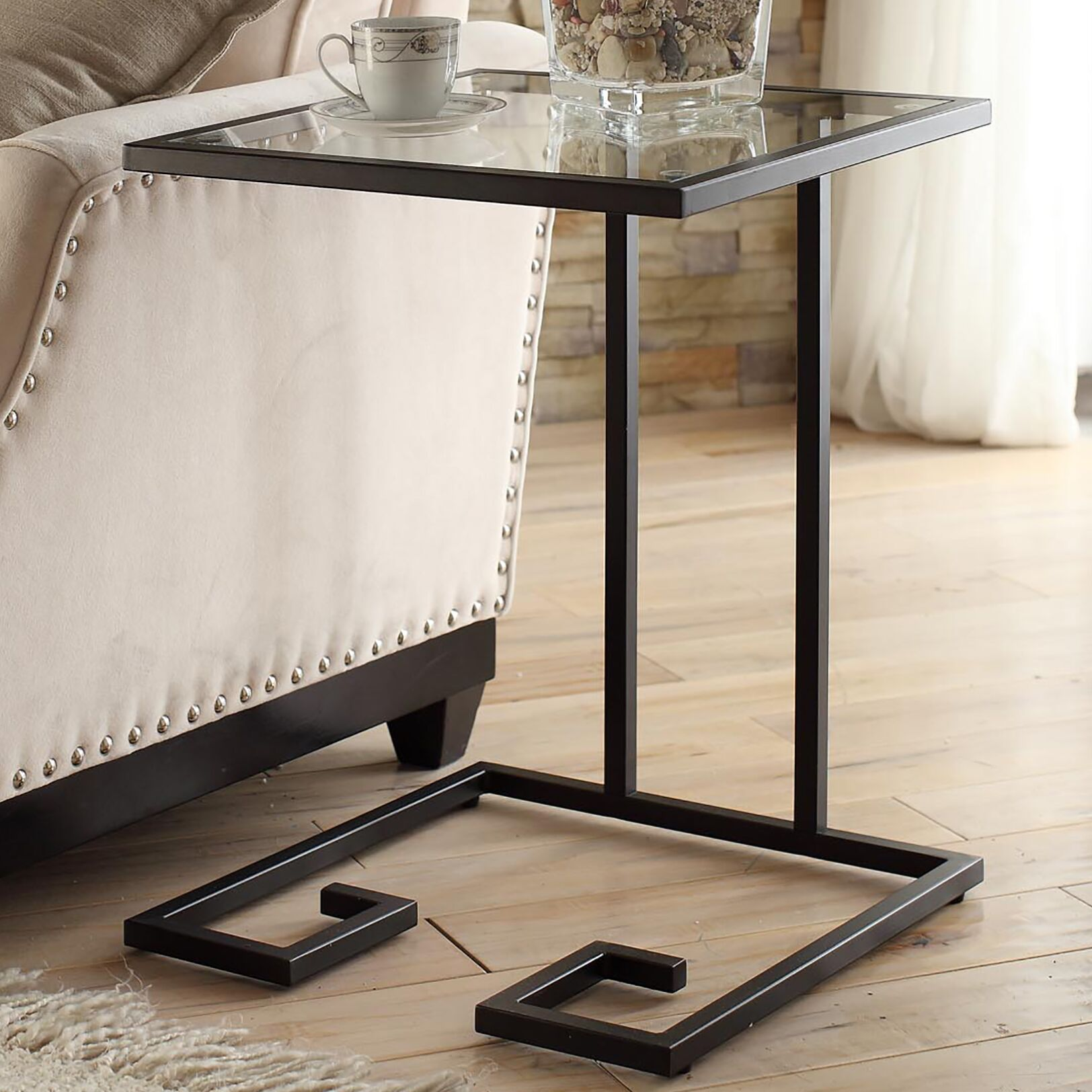 Panther End Table Color: Black