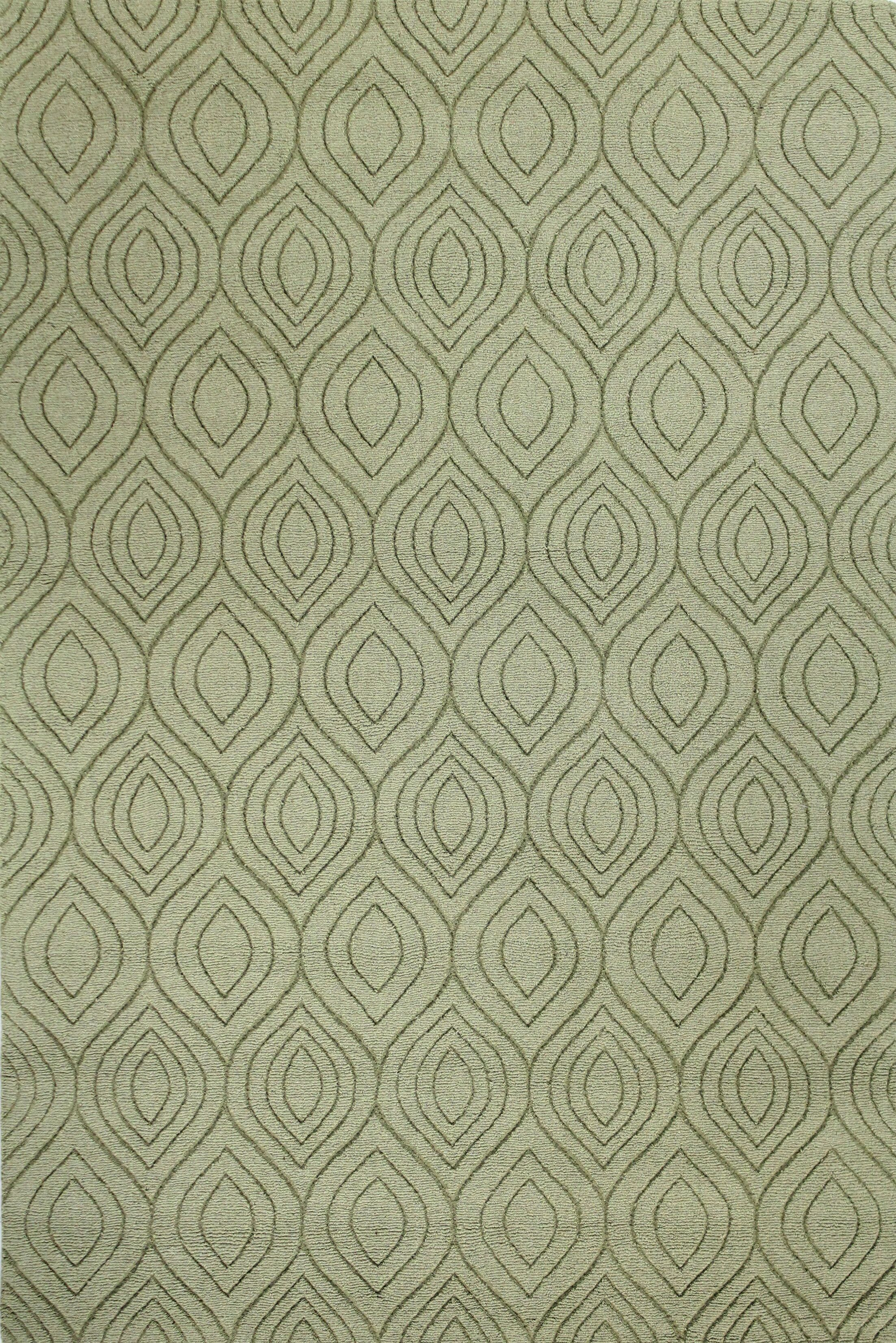 Orion Hand-Woven Light Green Area Rug Rug Size: Rectangle 7'6