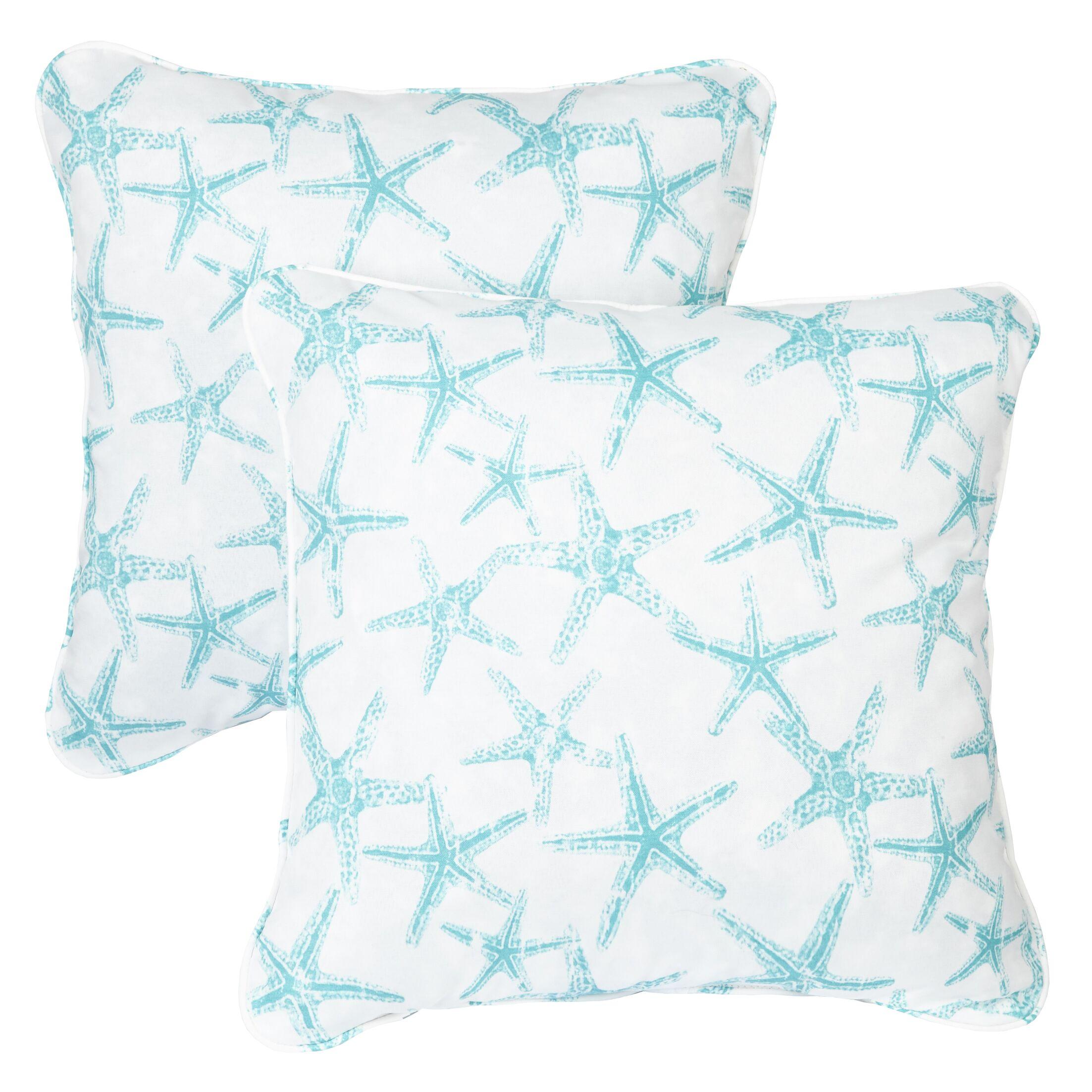 Ludwick Indoor/Outdoor Throw Pillow Size: 22