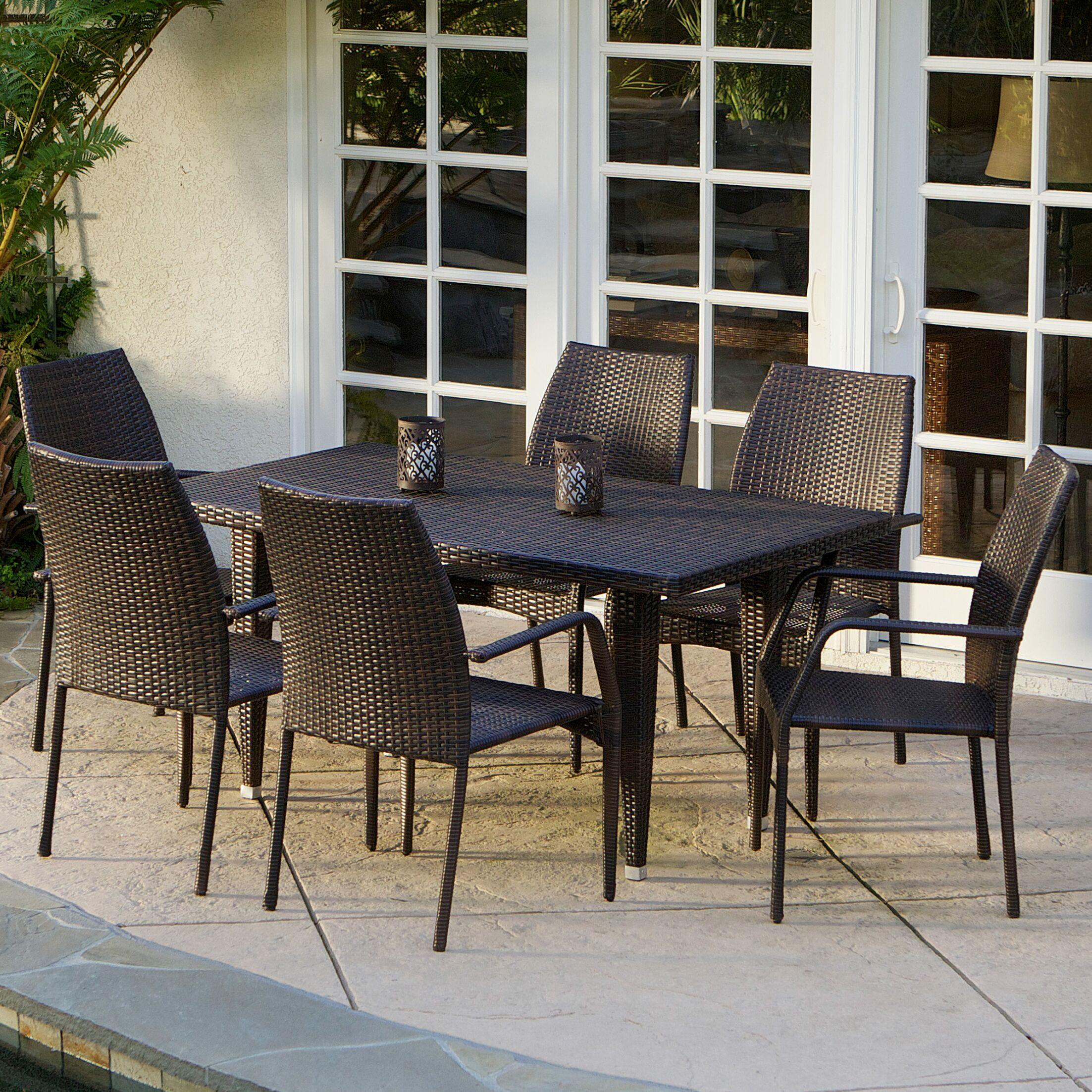 Panos 7 Piece Outdoor Dining Set