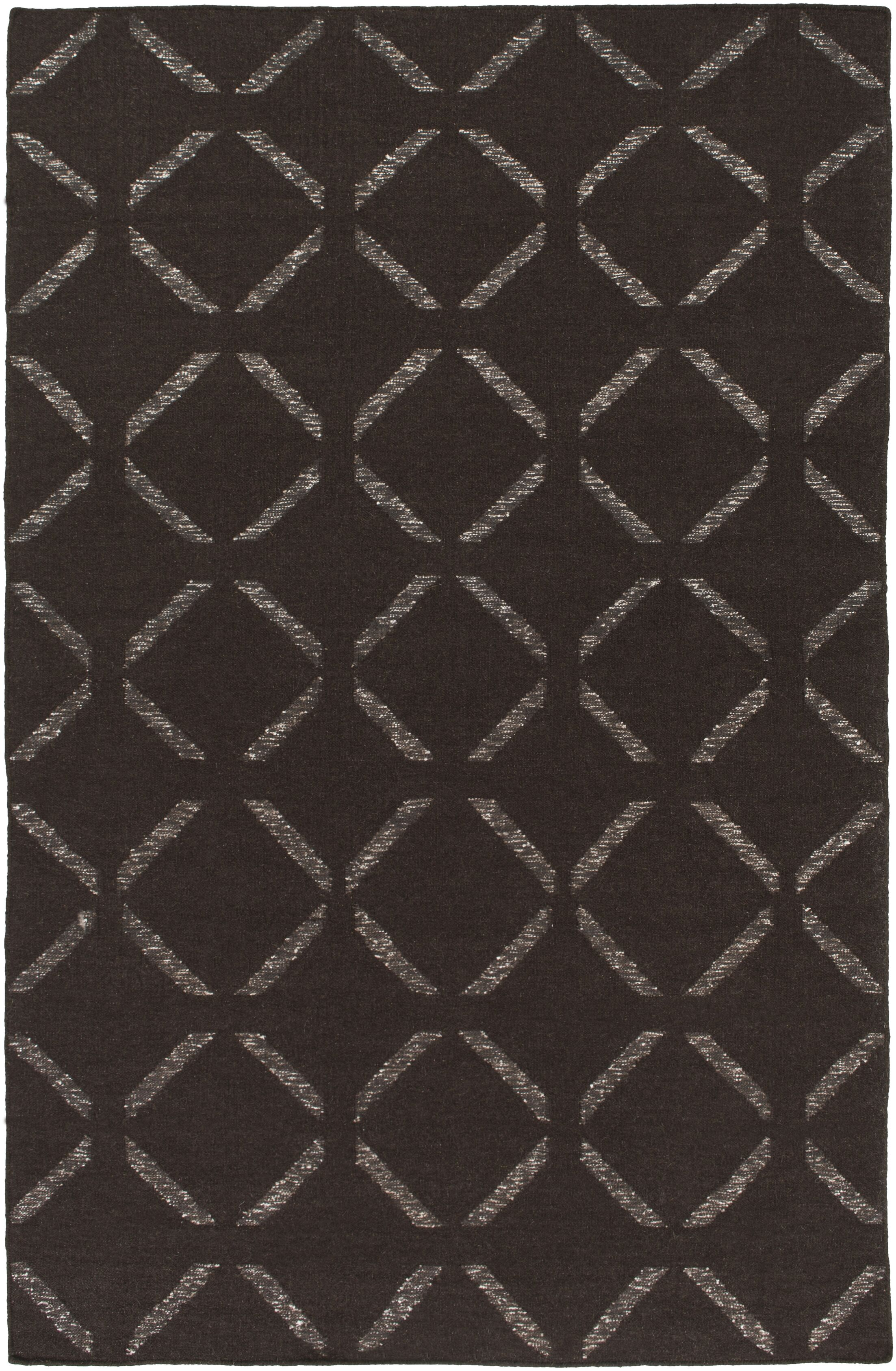 Hand-Woven Chocolate Area Rug Rug Size: Rectangle 4' x 6'