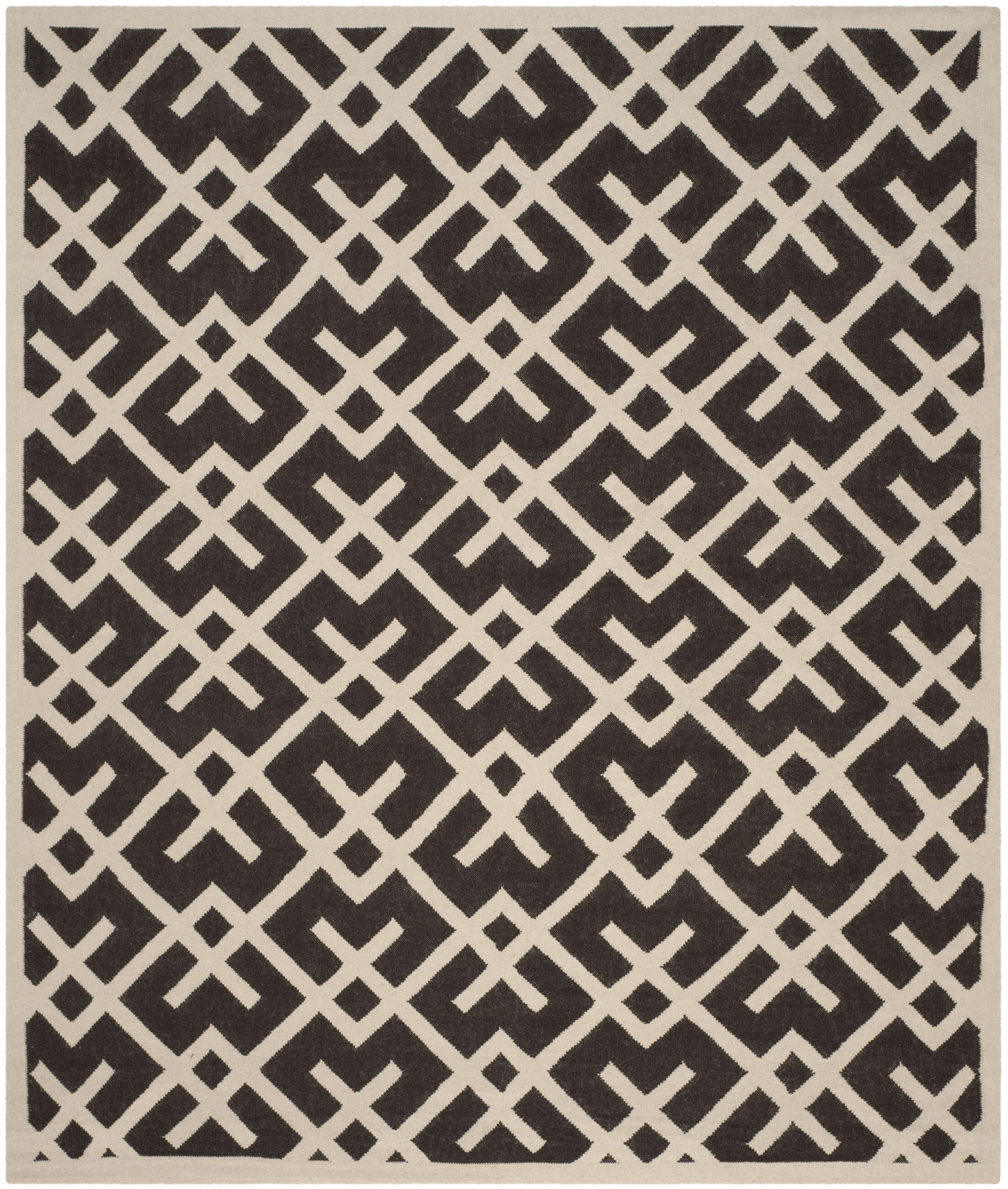 Cassiopeia Handmade Wool Brown/Ivory Area Rug Rug Size: Rectangle 3' x 5'