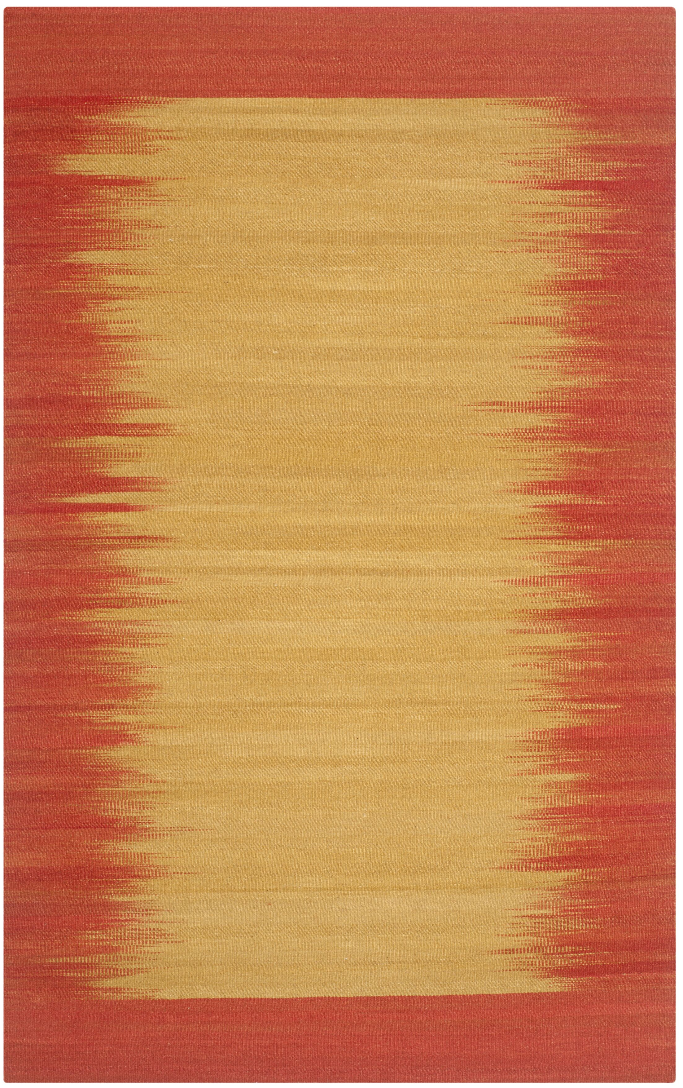 Carper Hand-Woven Rust Abstract Area Rug Rug Size: Square 7' x 7'