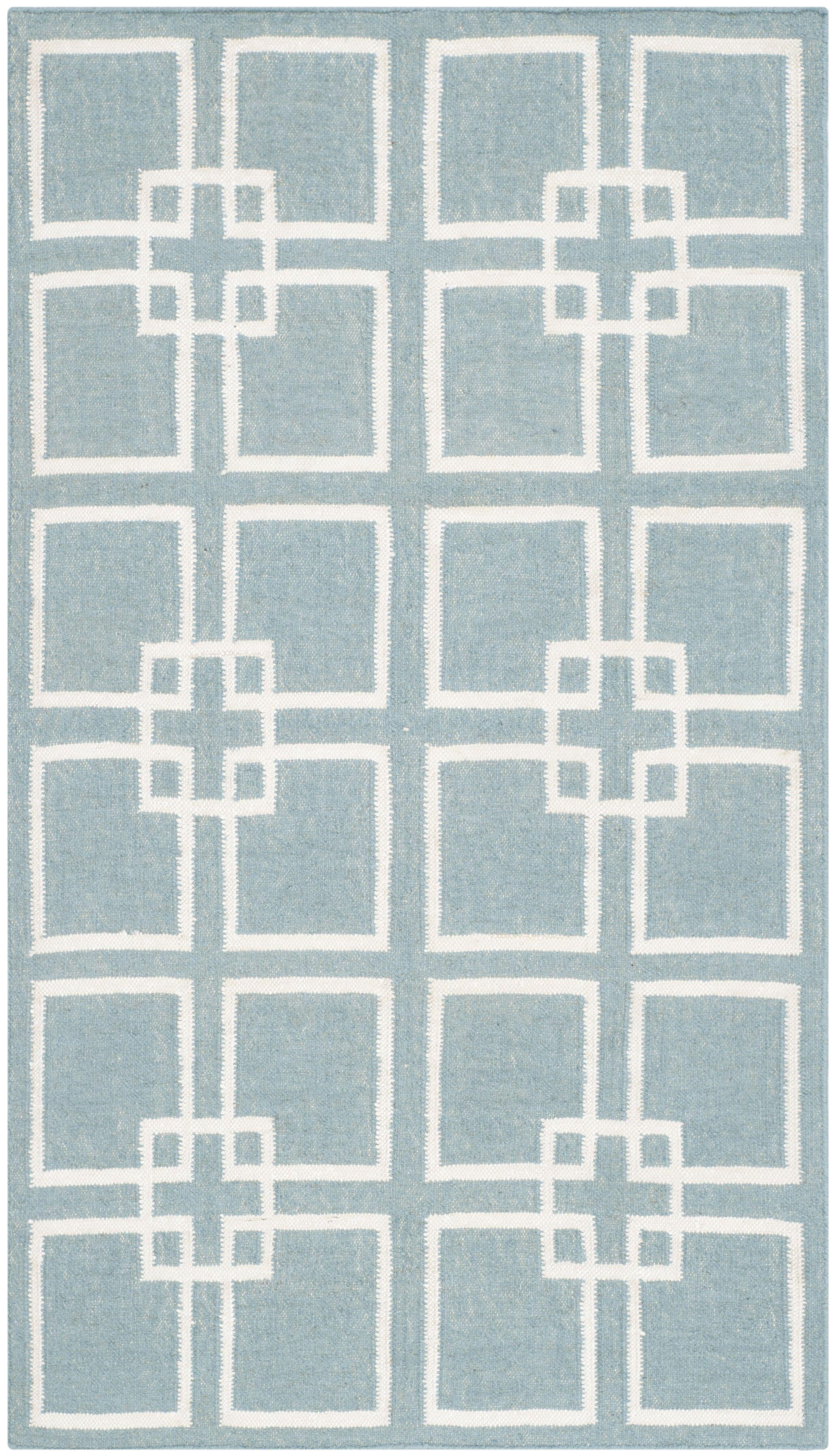 Square Dance Geyser Blue Area Rug Rug Size: Rectangle 3' x 5'