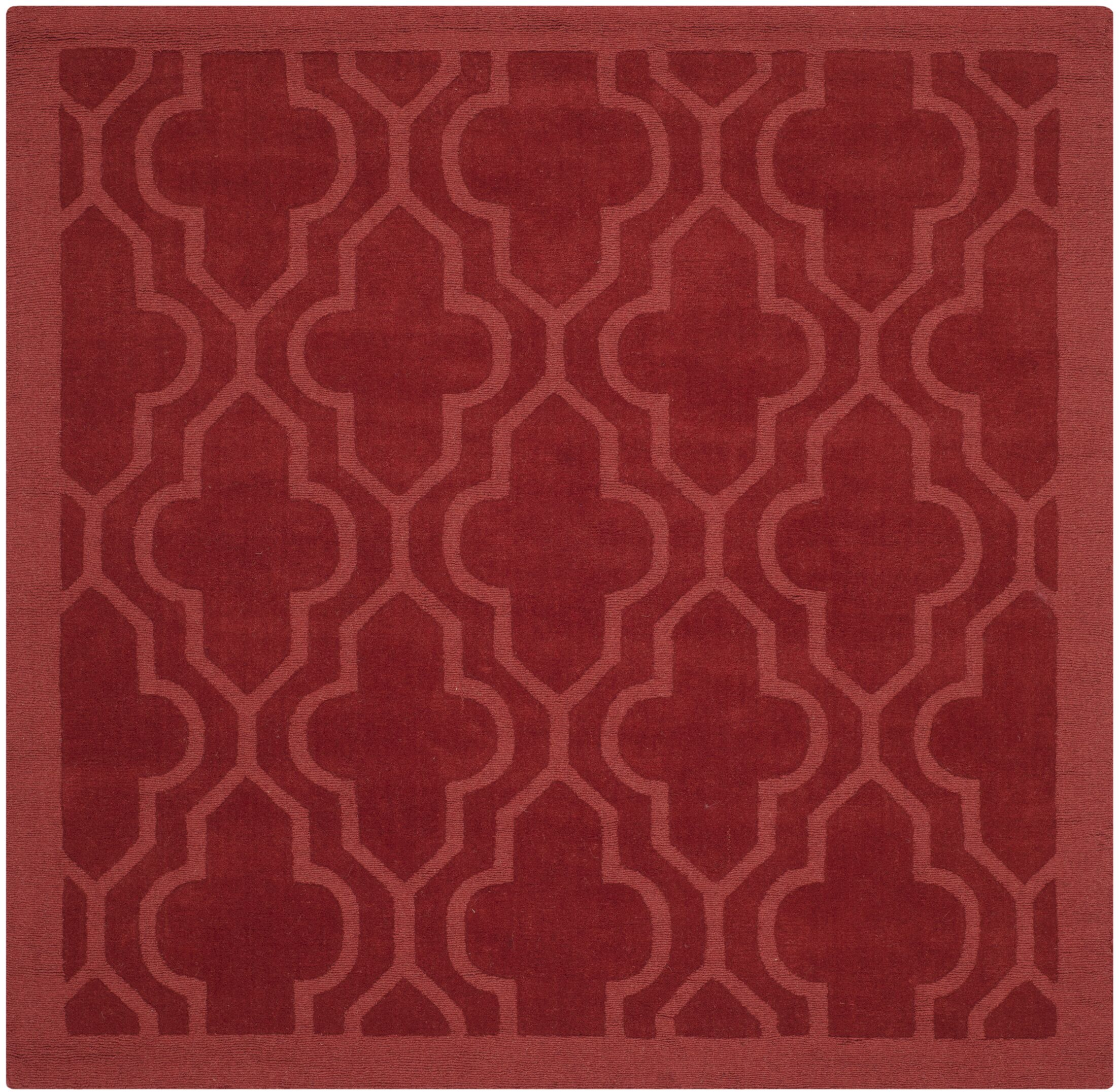 Casados Hand-Loomed Rust Area Rug Rug Size: Square 6' x 6'
