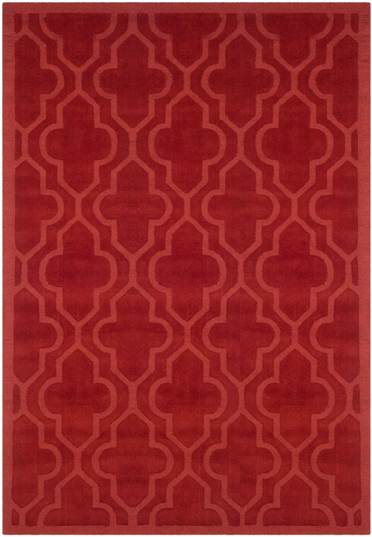 Casados Hand-Loomed Rust Area Rug Rug Size: Rectangle 7'6