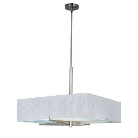 Denning 3-Light Square/Rectangle Chandelier Color / Size / Shade: Satin Nickel / 7