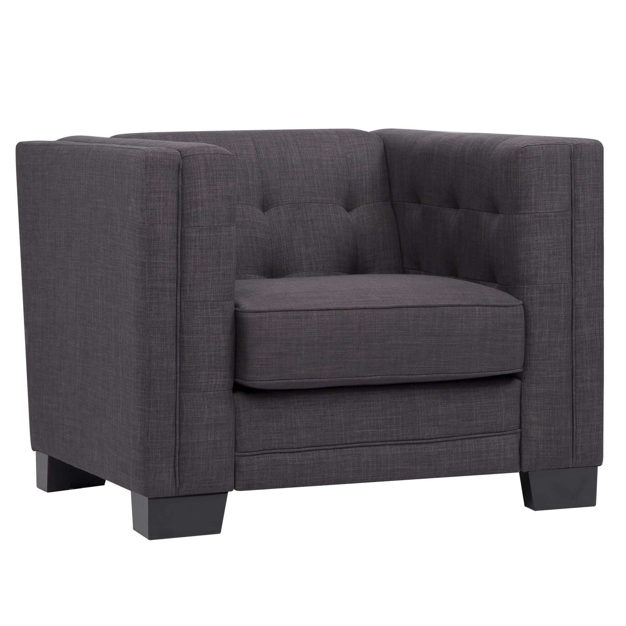 Vidette Square Lounge Chair Upholstery: Dark Gray
