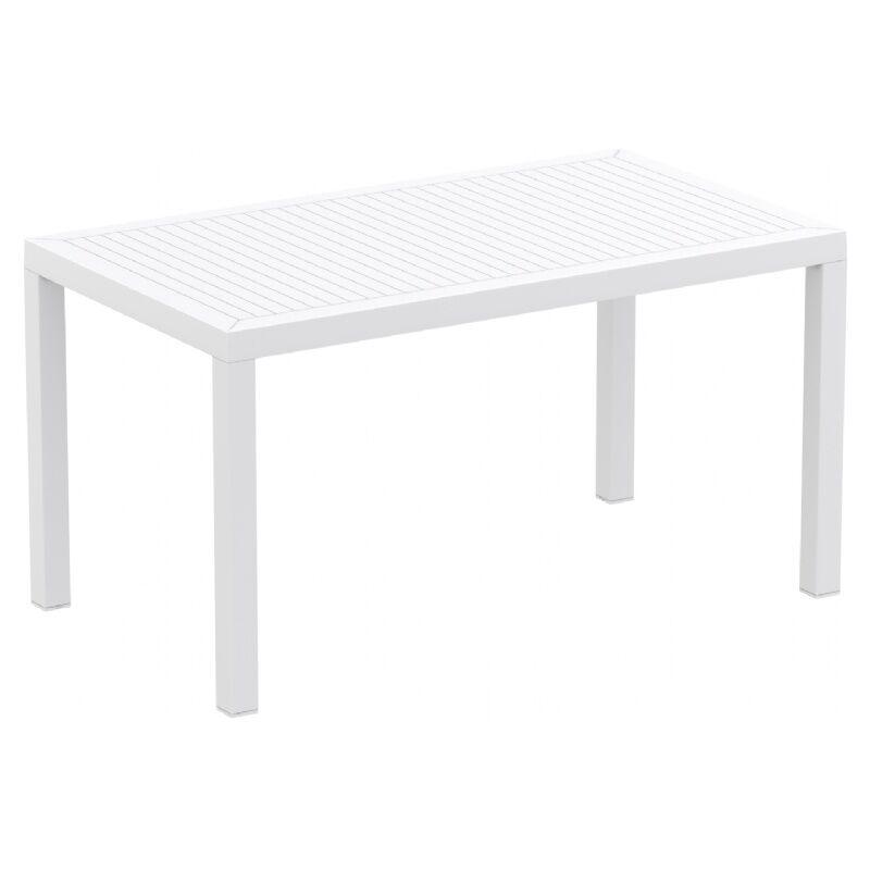 Nevarez Plastic Dining Table Color: White
