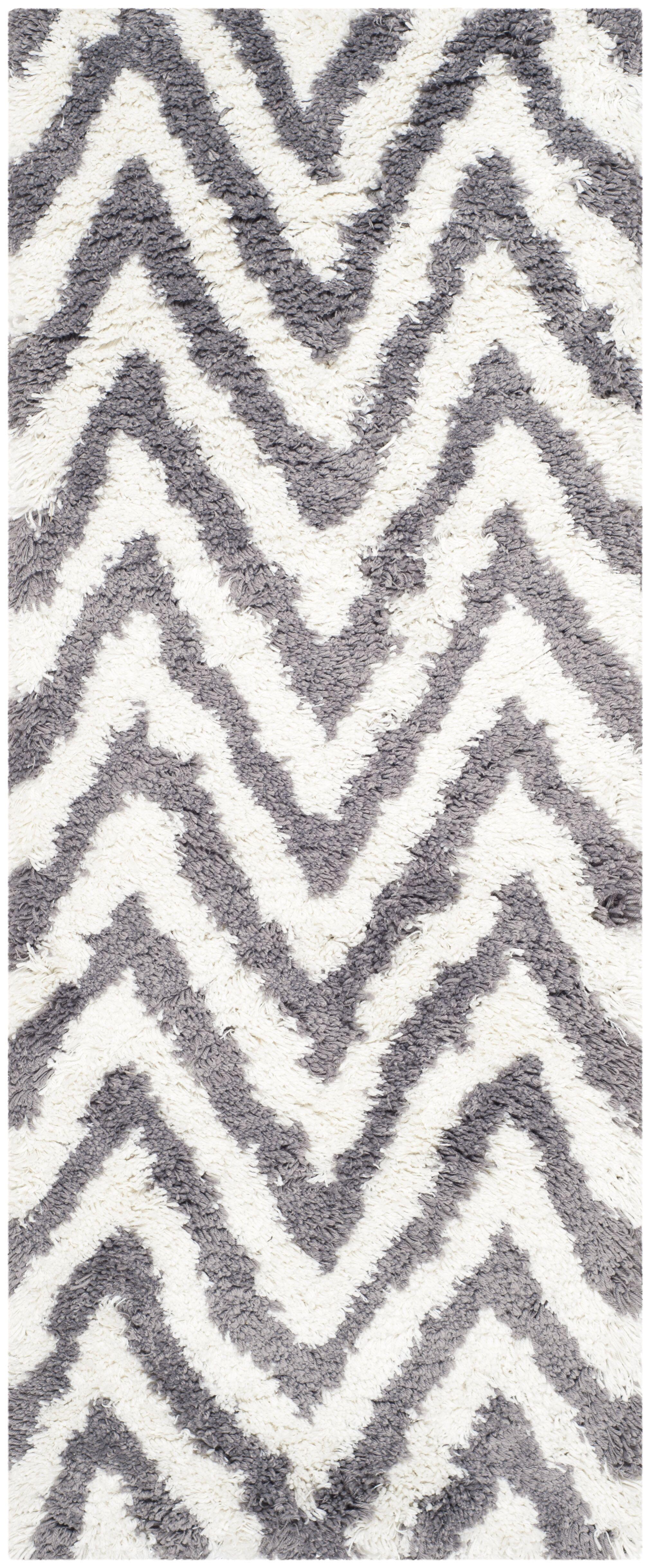 Haupt Gray/White Area Rug Rug Size: Runner 2'3