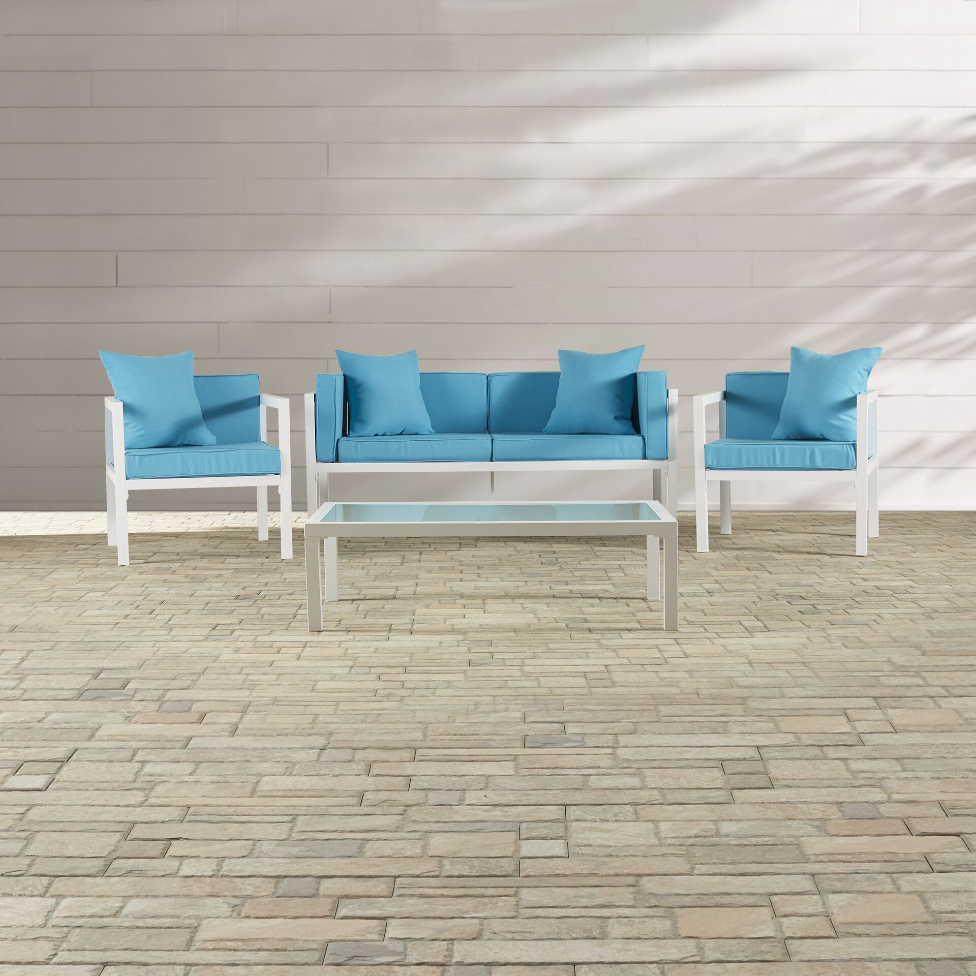 Arrandale 4 Piece Sofa Set with Cushions