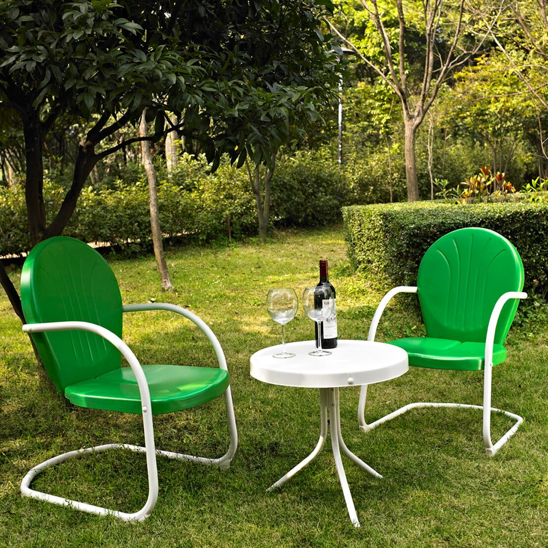 Mciver 3 Piece Conversation Set Color: Grasshopper Green