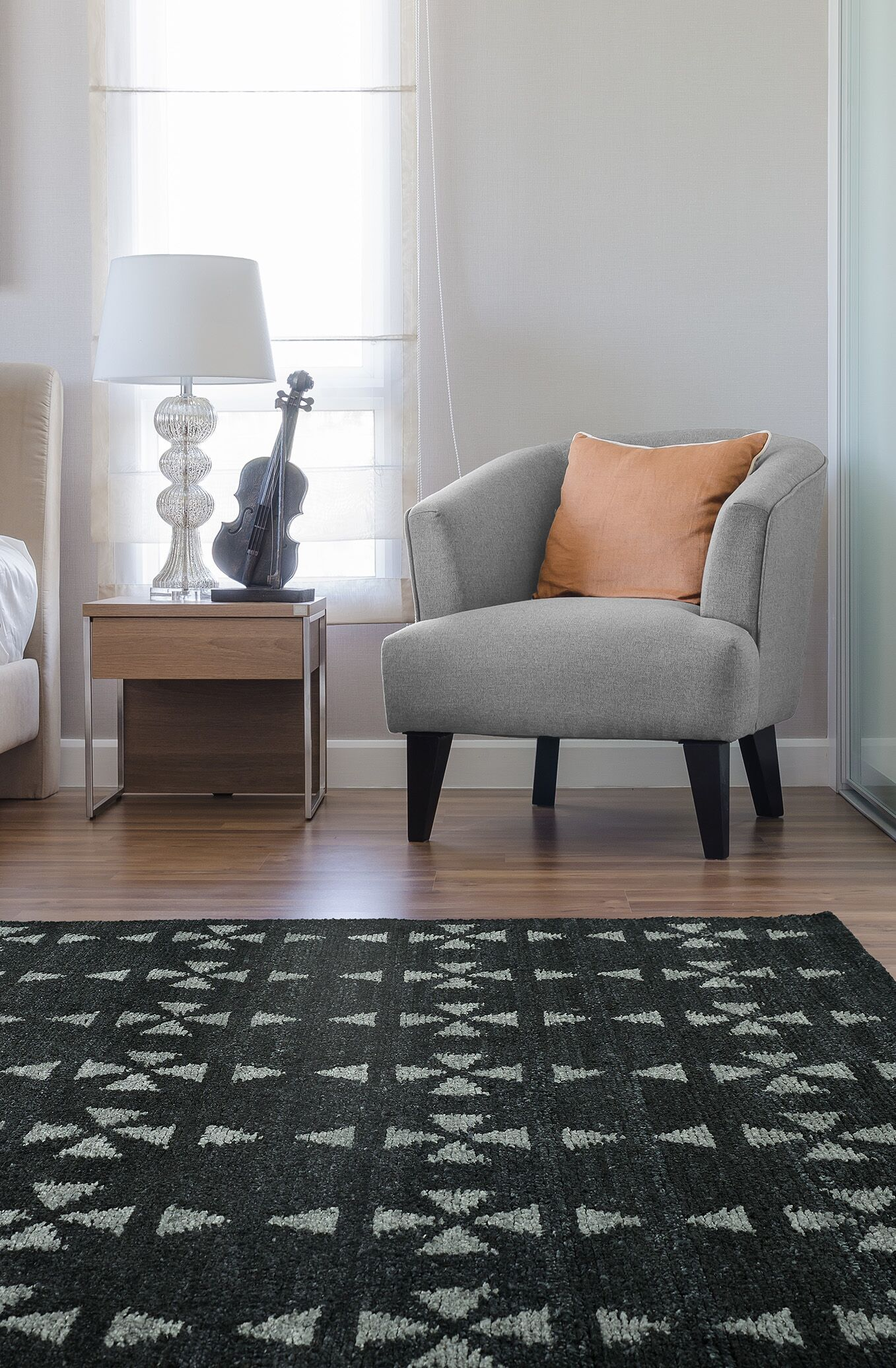 Handmade Charcoal / Grey Area Rug Rug Size: Rectangle 8' x 11'