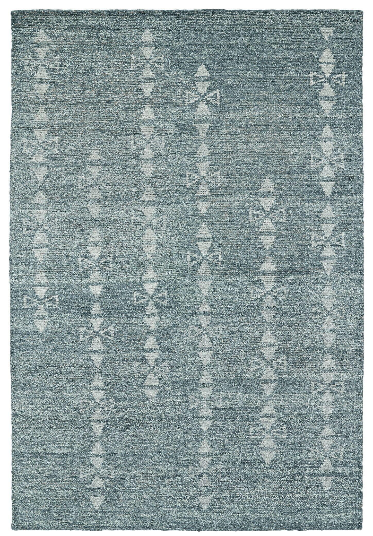 Aracely Hand Woven Ice Blue/Light Blue Area Rug Rug Size: Rectangle 5' x 7'9