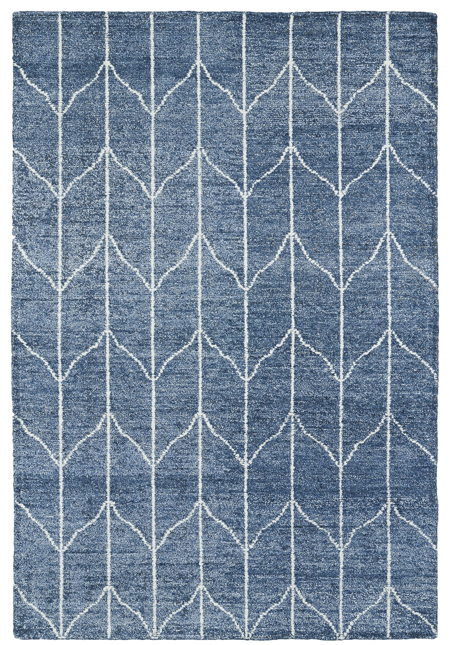 Hand Woven Denim Blue/Ivory Area Rug Rug Size: Rectangle 5' x 7'9