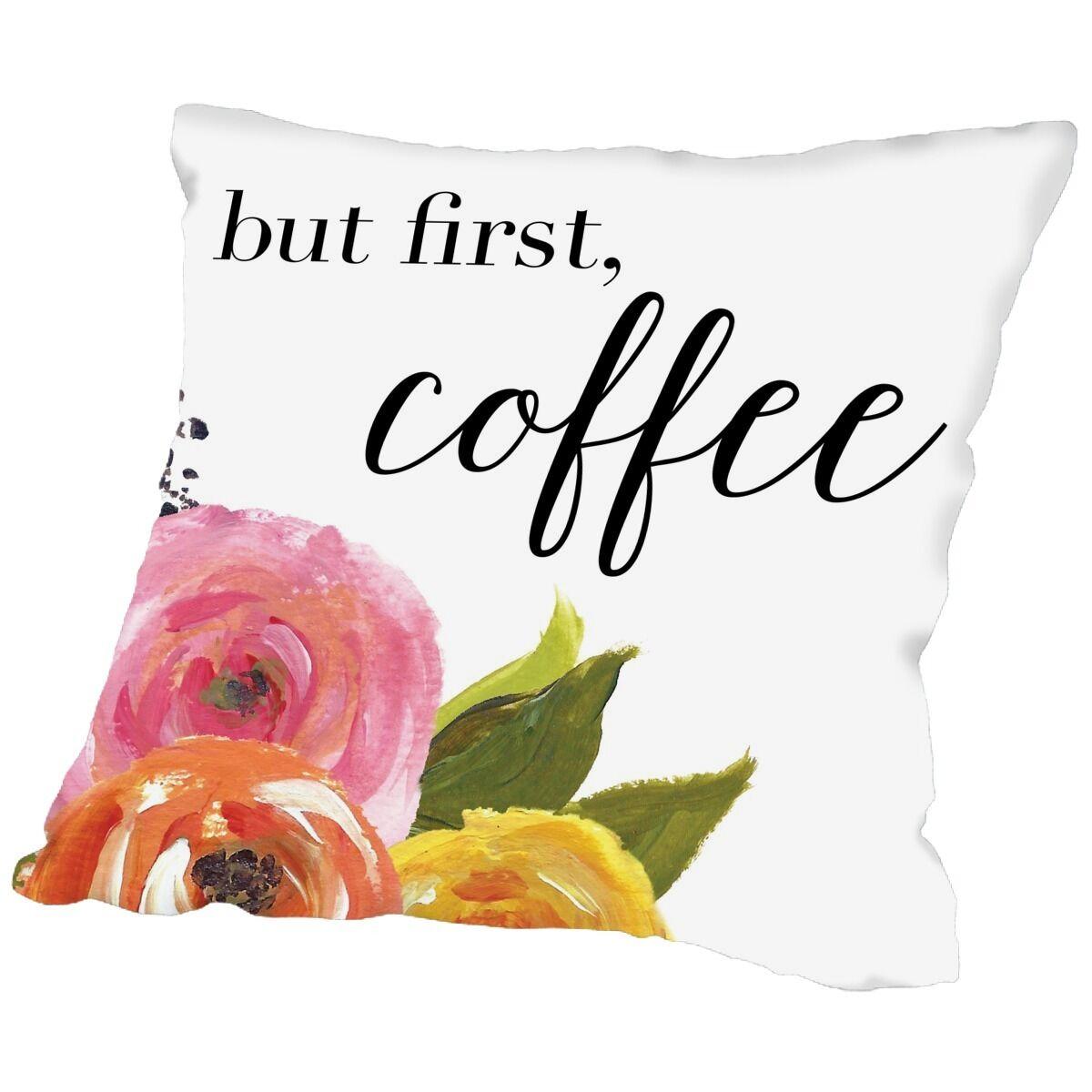 White/Pink Throw Pillow Size: 18