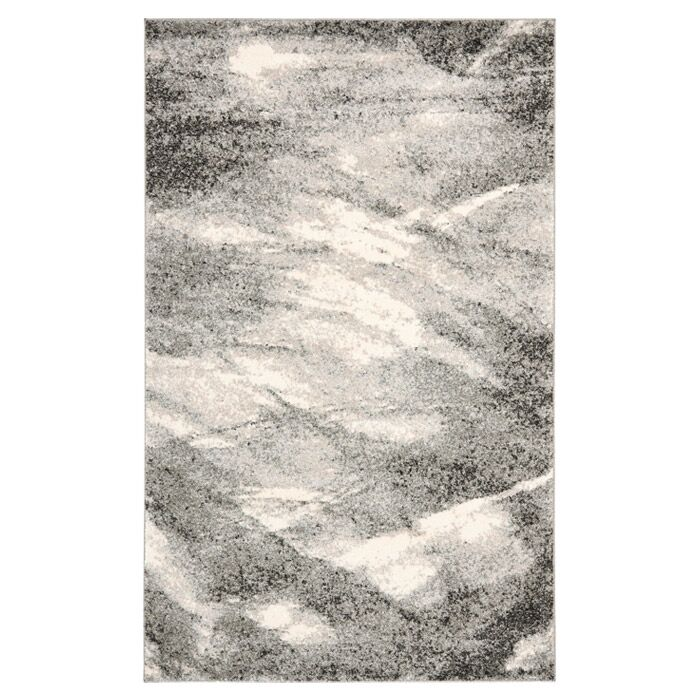 Vulpecula Grey and Ivory Area Rug Rug Size: Rectangle 12' x 18'