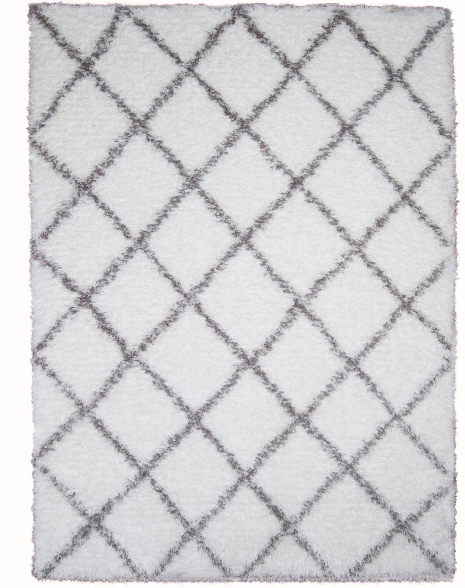Abarca White Area Rug Rug Size: Rectangle 7'10