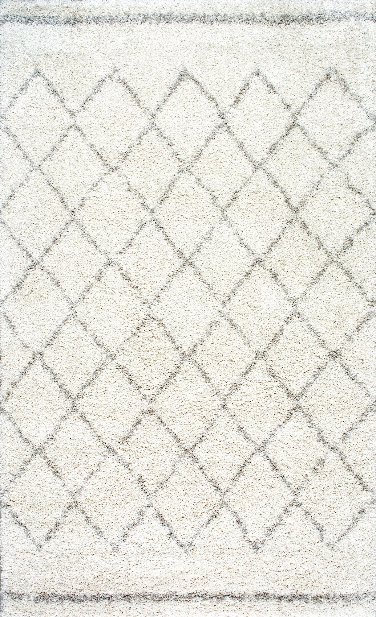 Manus Natural Ivory Area Rug Rug Size: Rectangle 7'6